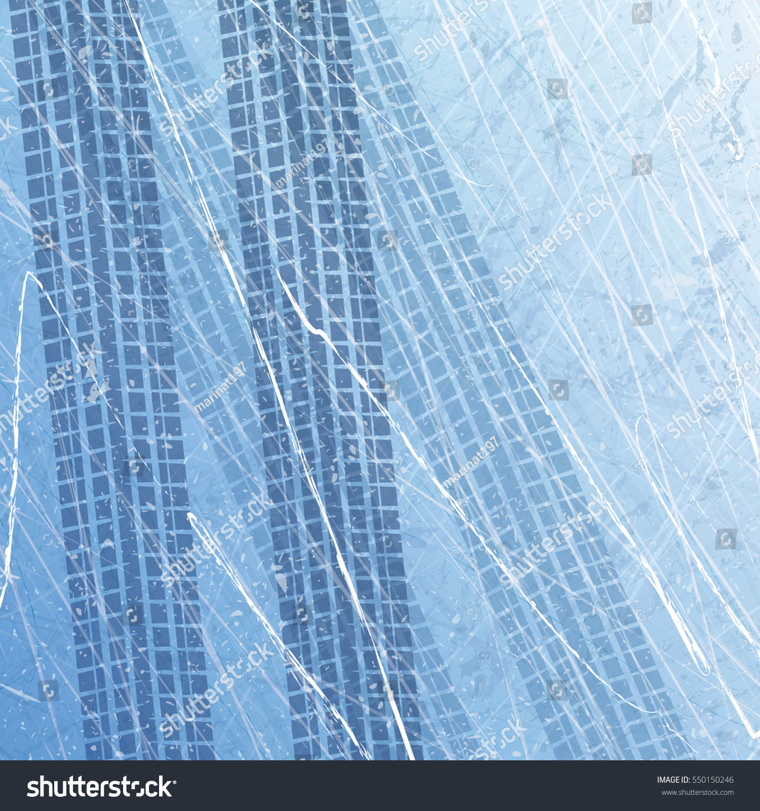 Traces Car Tires On Ice Texture Stock Vector (2018) 550150246 ...