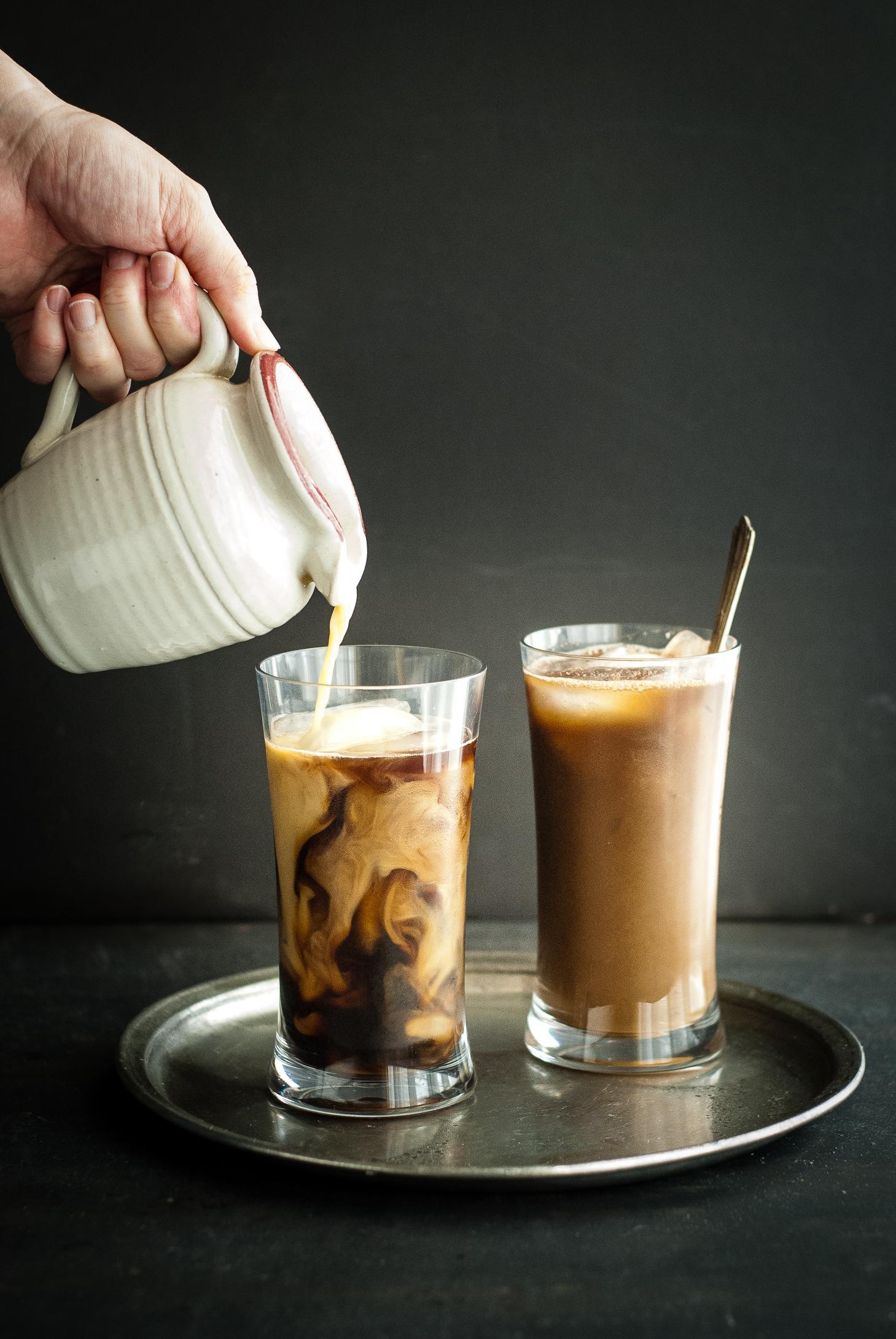 Healing Golden Milk Iced Coffee Latte | kumquat | gluten-free recipes