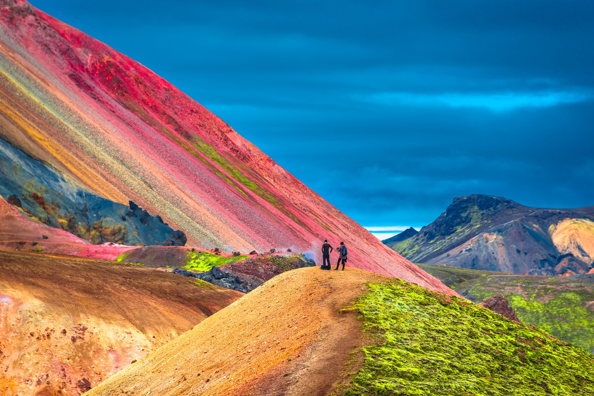Iceland mountain rainbow photo