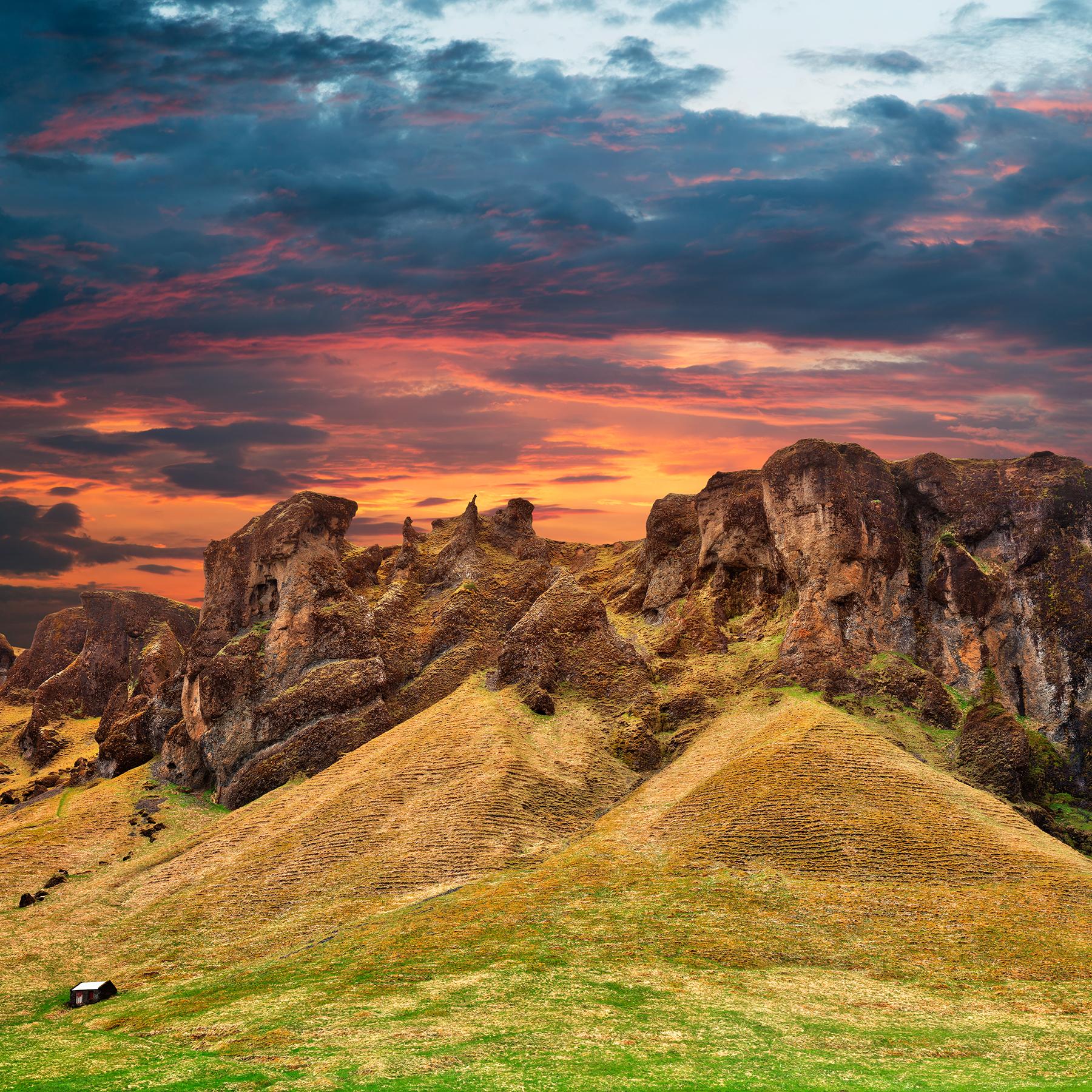 Iceland sunset fantasy - monster mountain photo