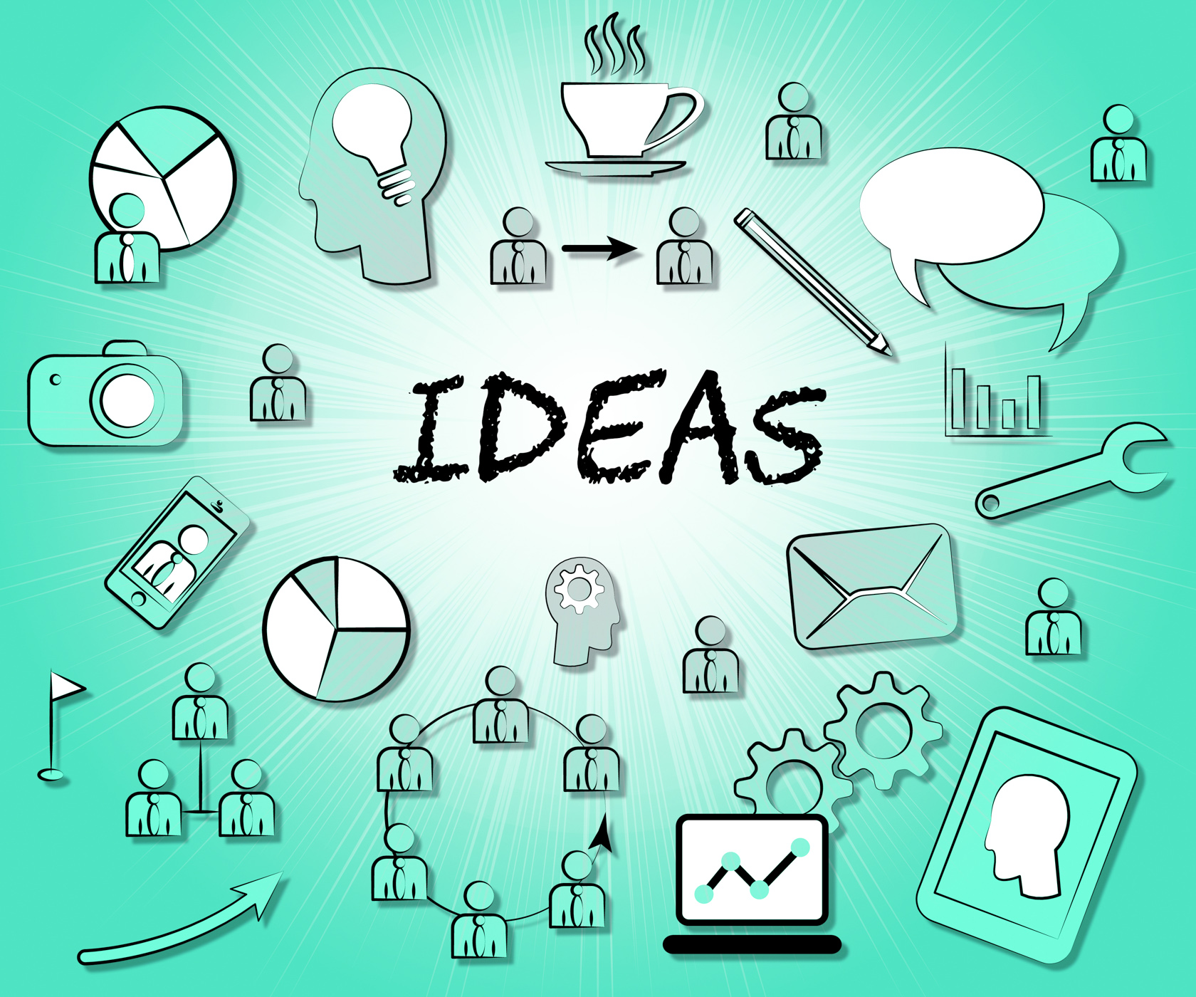Ideas Icons Means Choices Choose And Think, Choices, Ideas, Thinking, Think, HQ Photo