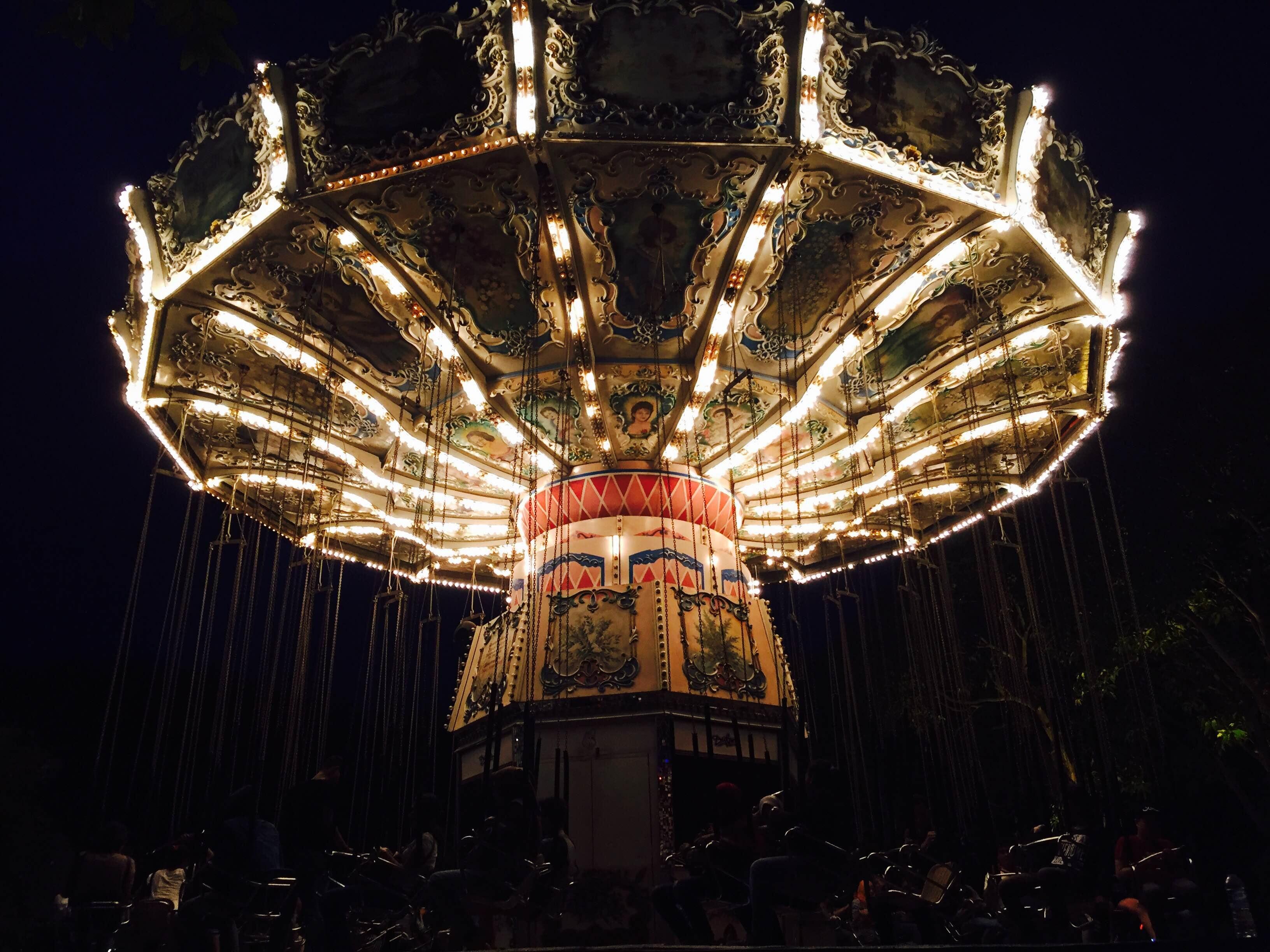 Illuminated carousel photo