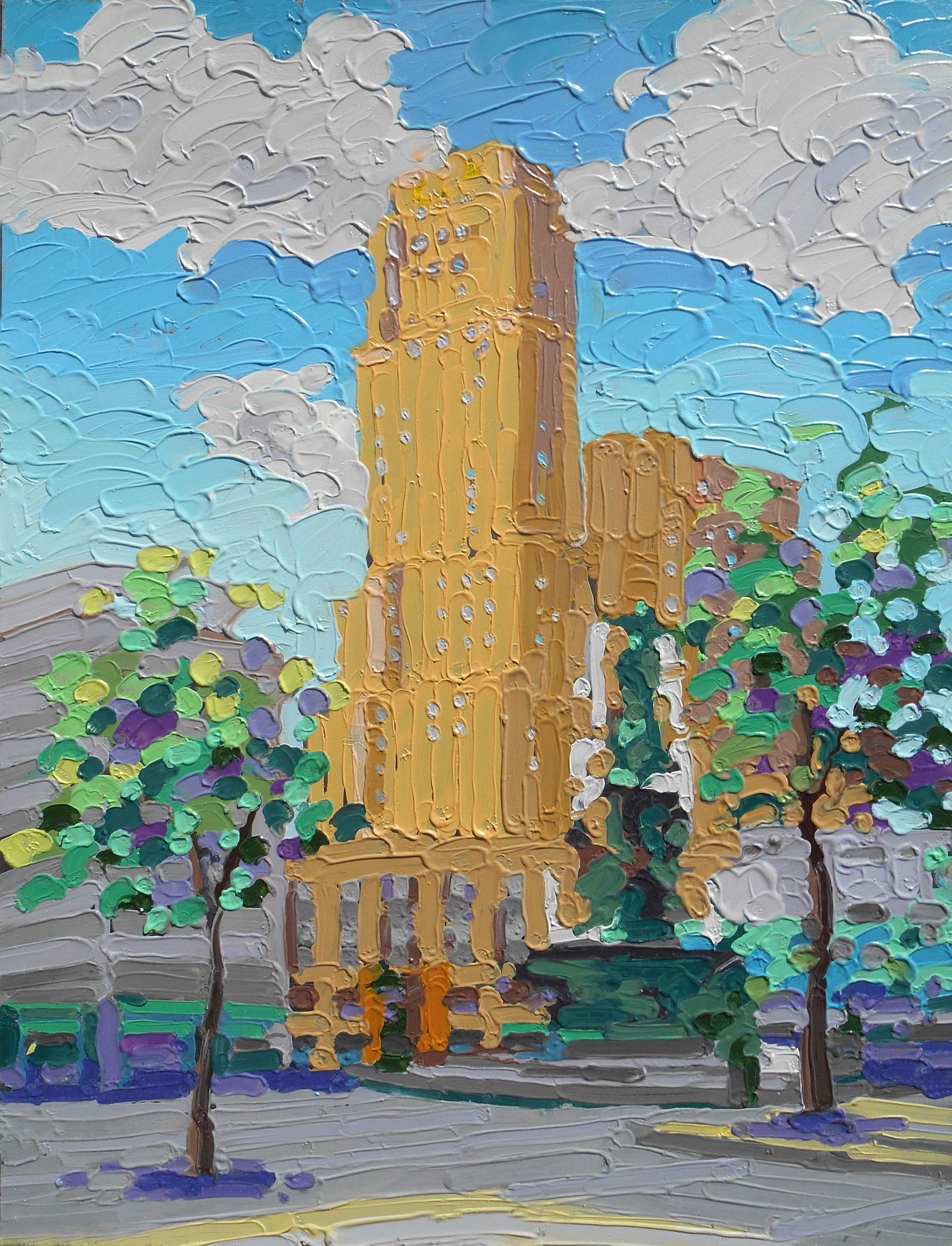 Oil Pastel Impressionist Paintings In Gold Frames, Impressionist ...