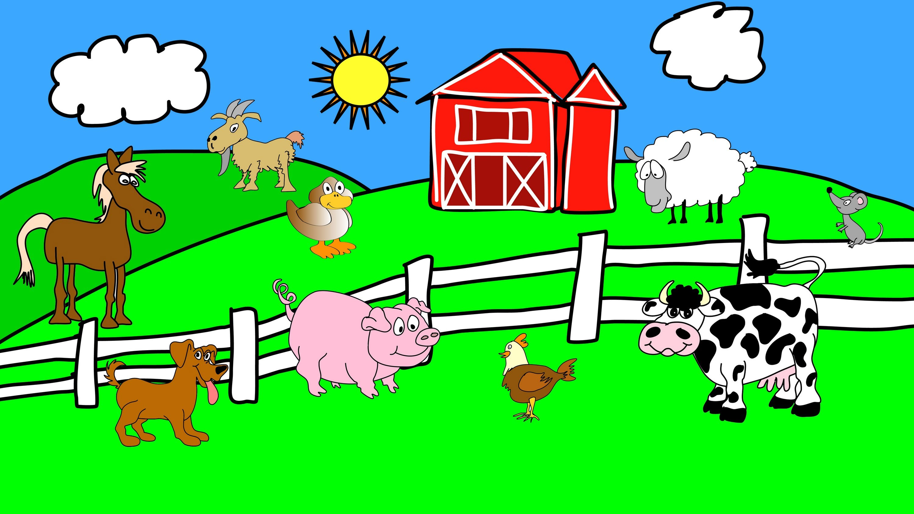 Animals On The Farm - Animal Sounds - Learn the Sounds Farm Animals ...