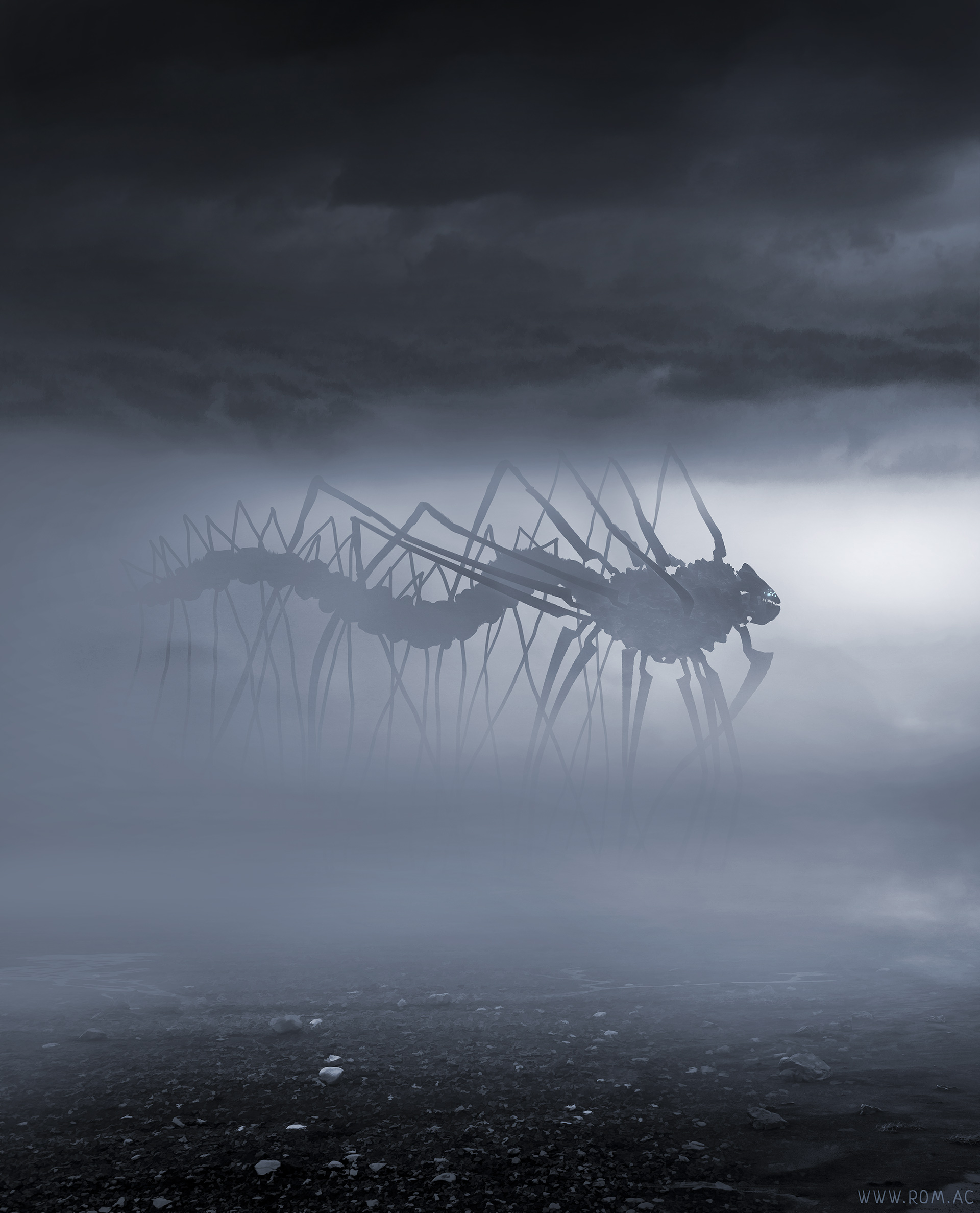 Something creeping in the fog by alexiuss on DeviantArt