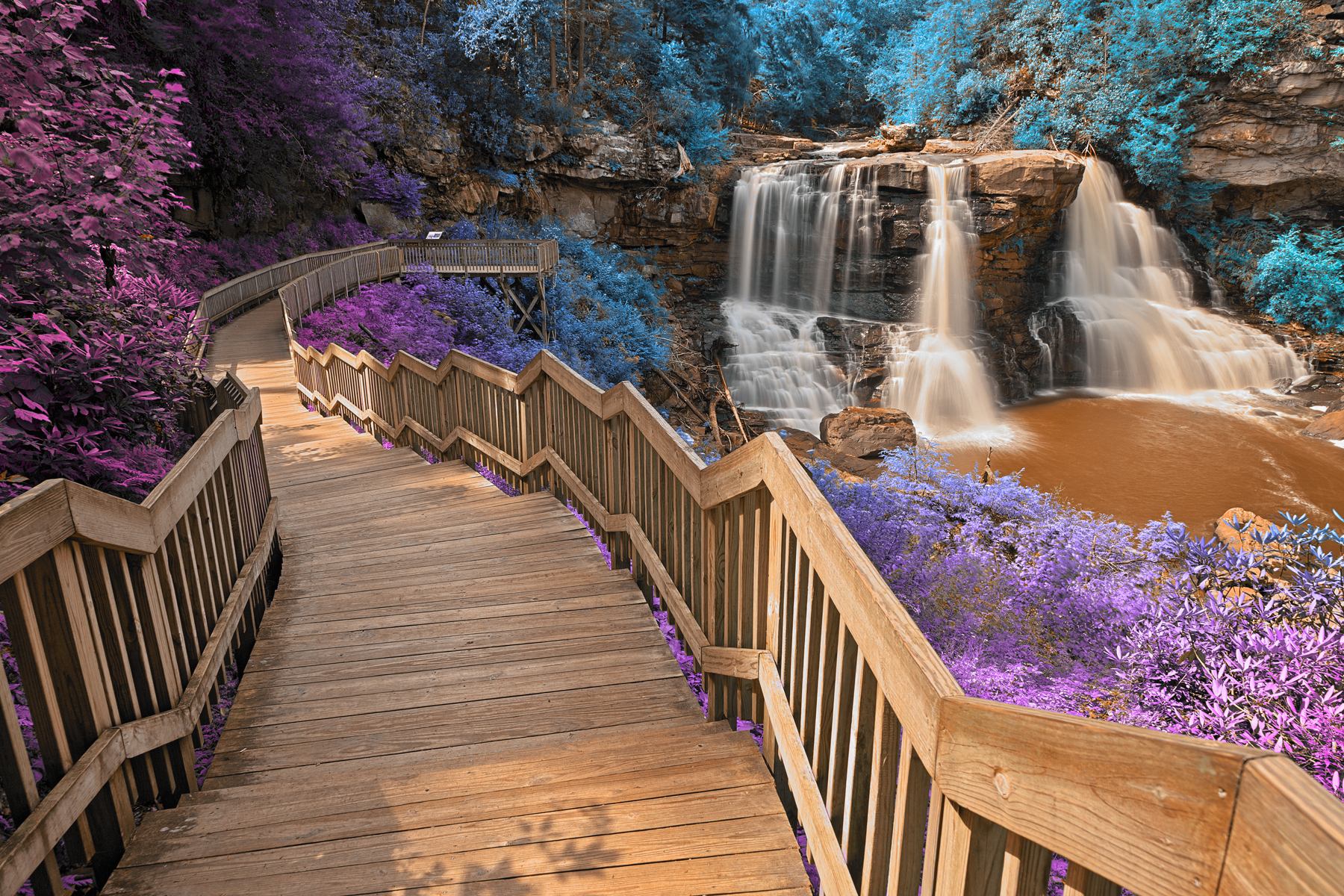 Inca Blackwater Falls - HDR, , Railing, Scenery, Scene, HQ Photo