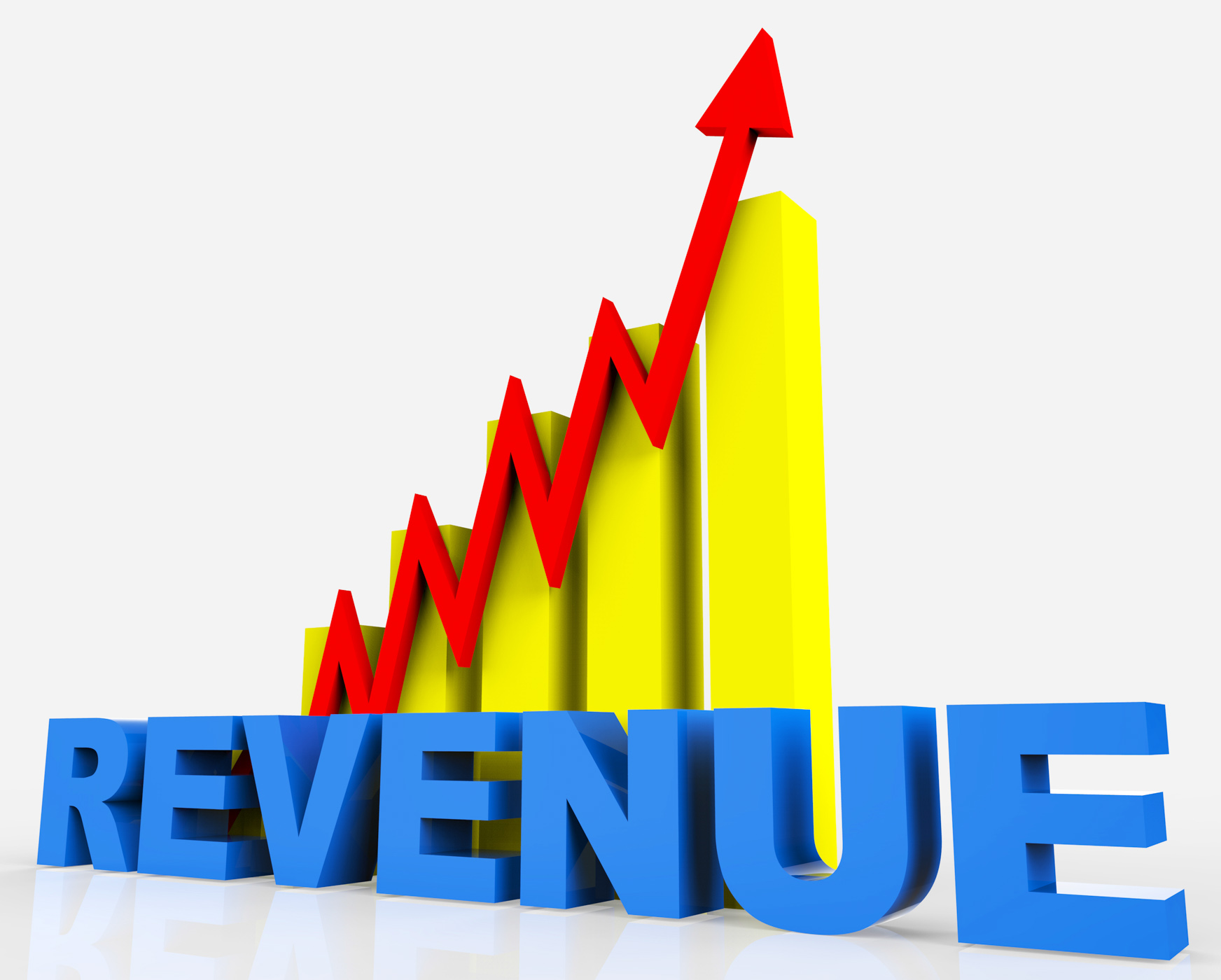 Increase revenue represents business graph and advancing photo
