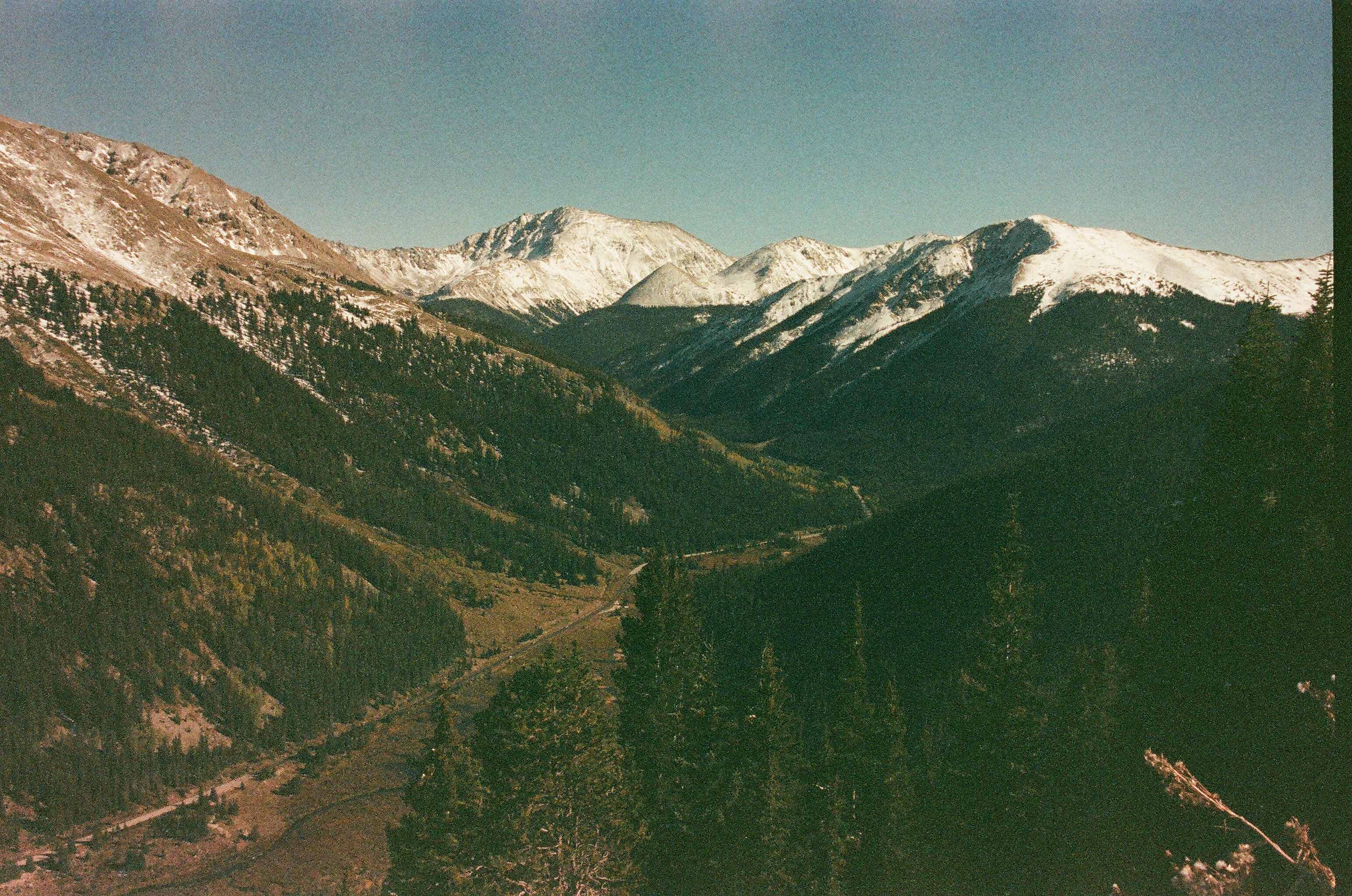 Independence pass, co, expired film photo