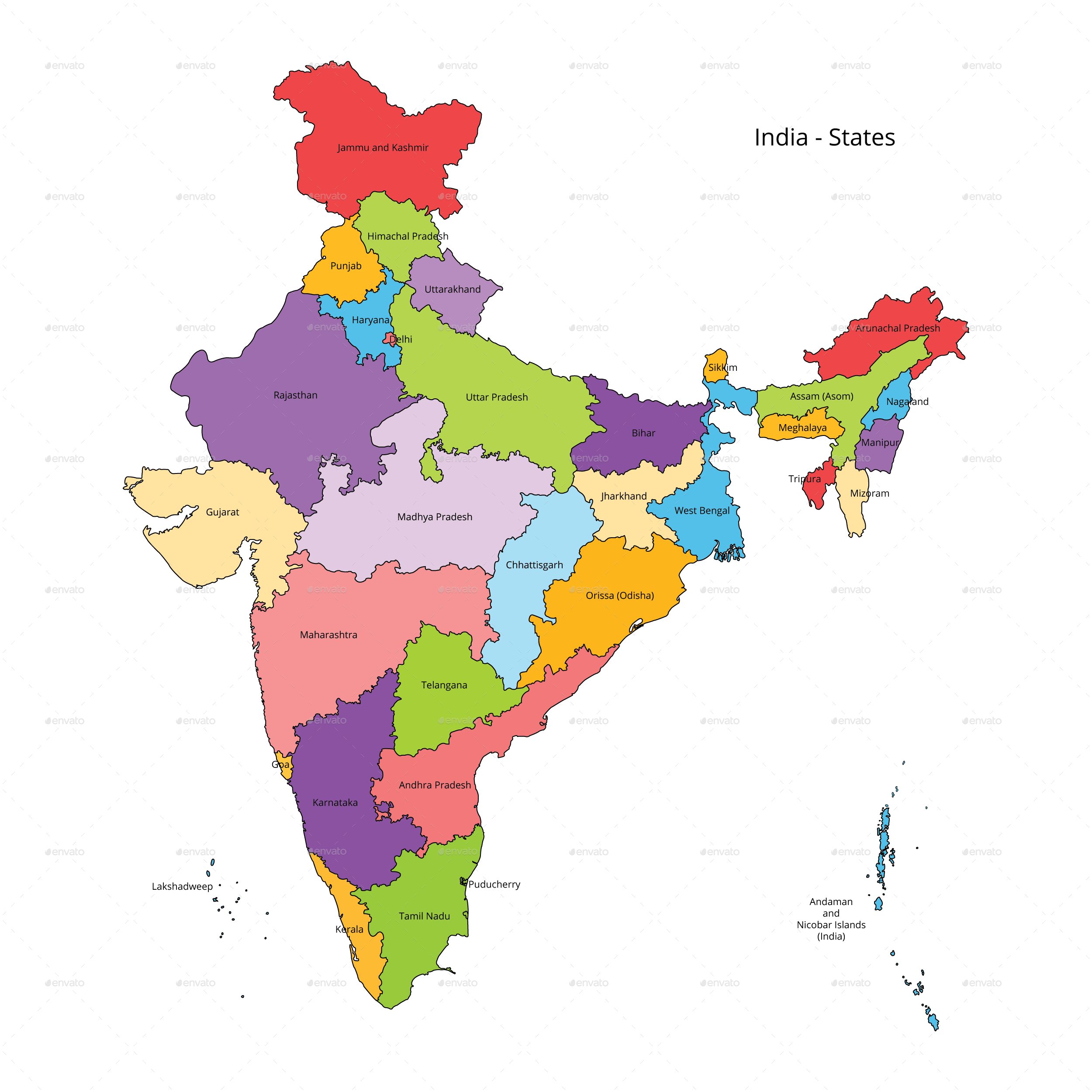 india map outline pics