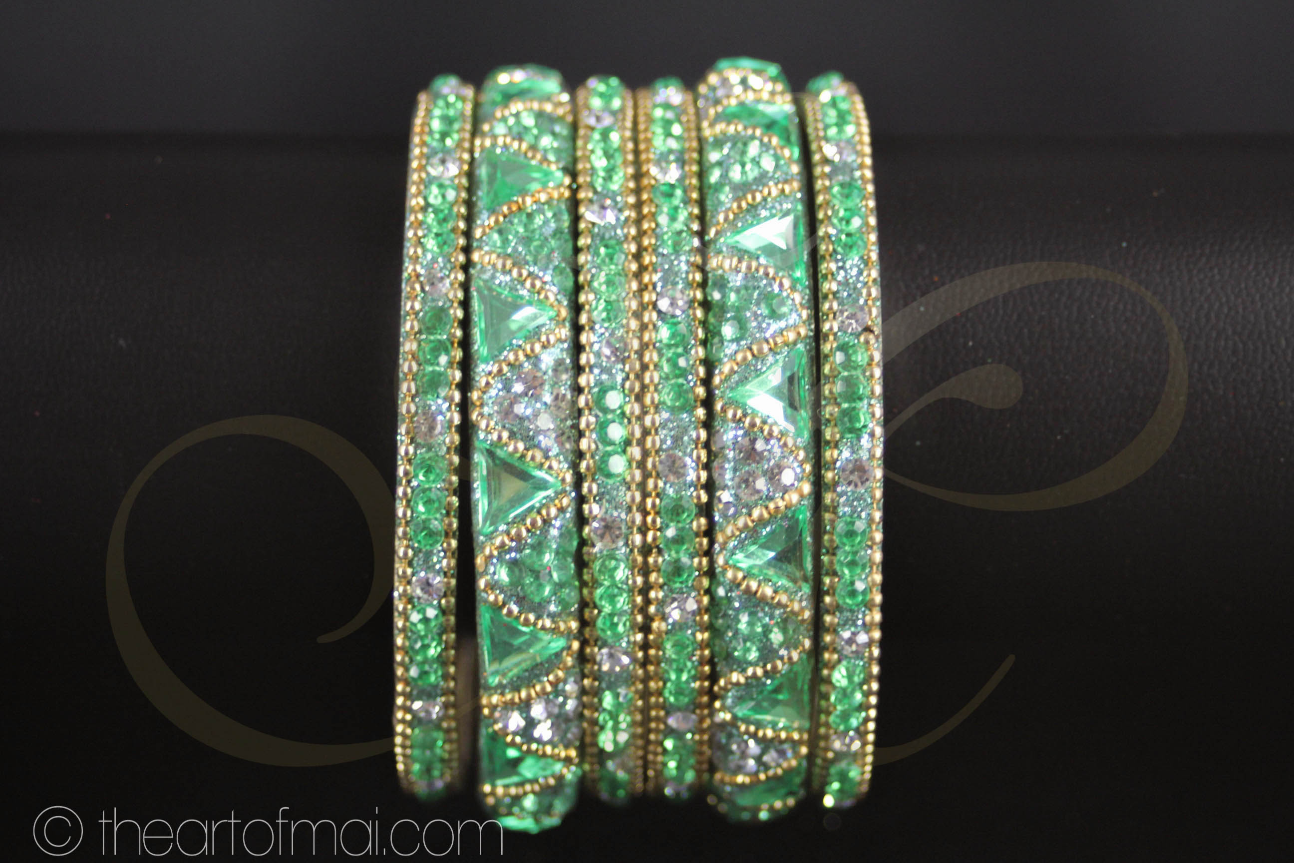 Indian Bangles Green - The Art of Mai