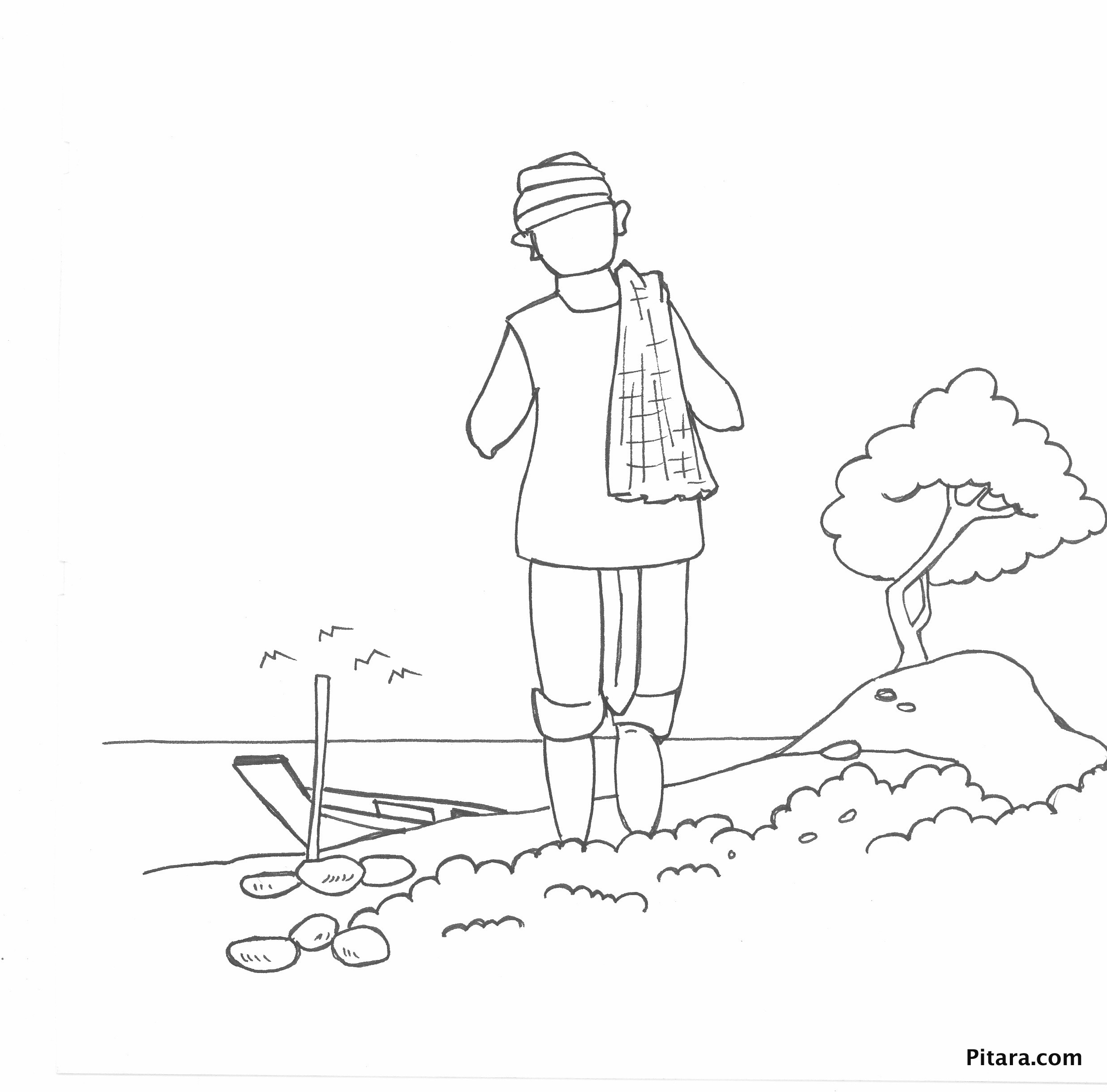 Indian Village People Coloring Pages Pitara Kids Network Lively ...