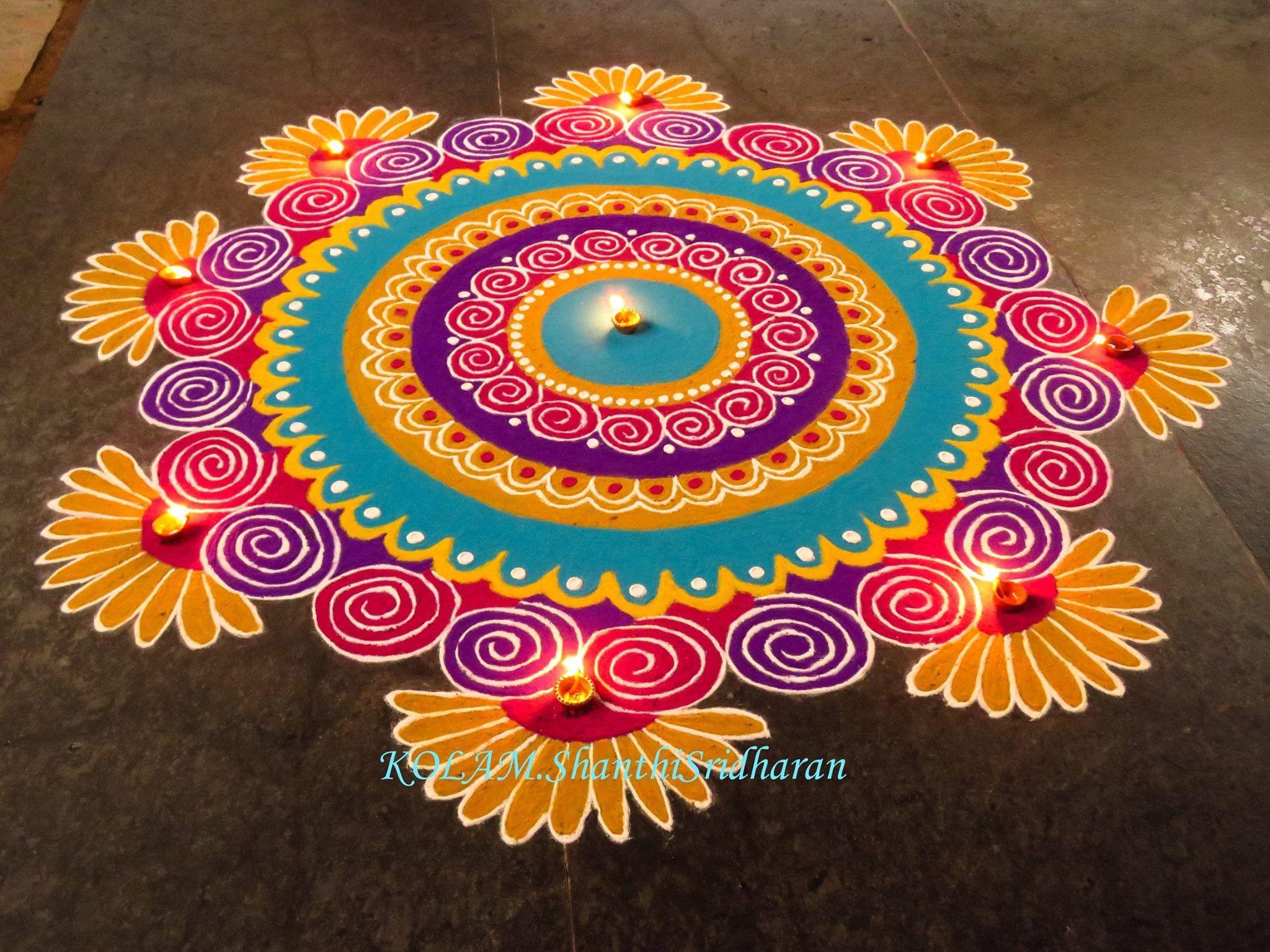 Indian rangoli diwali photo
