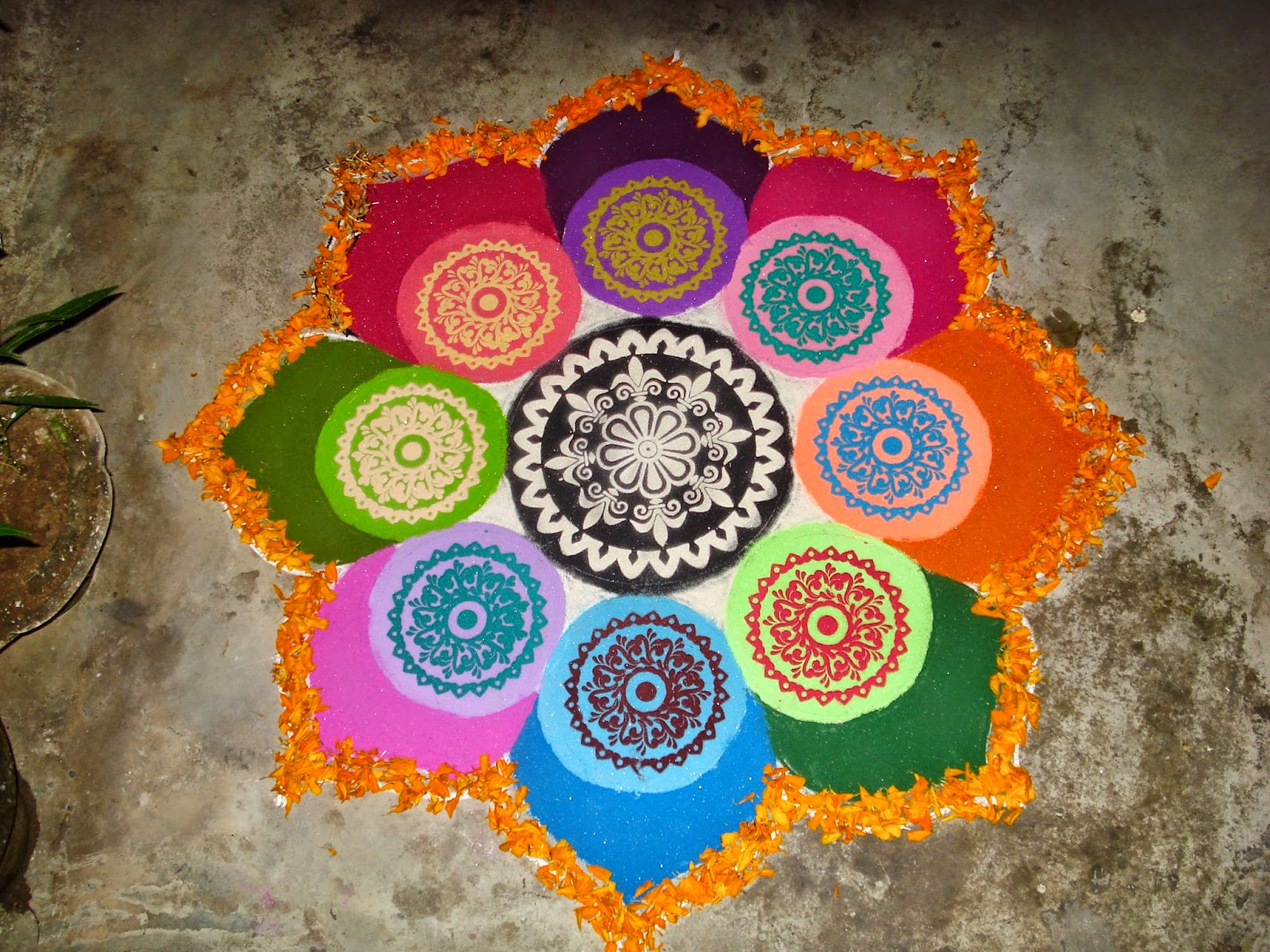 Indian rangoli diwali photo