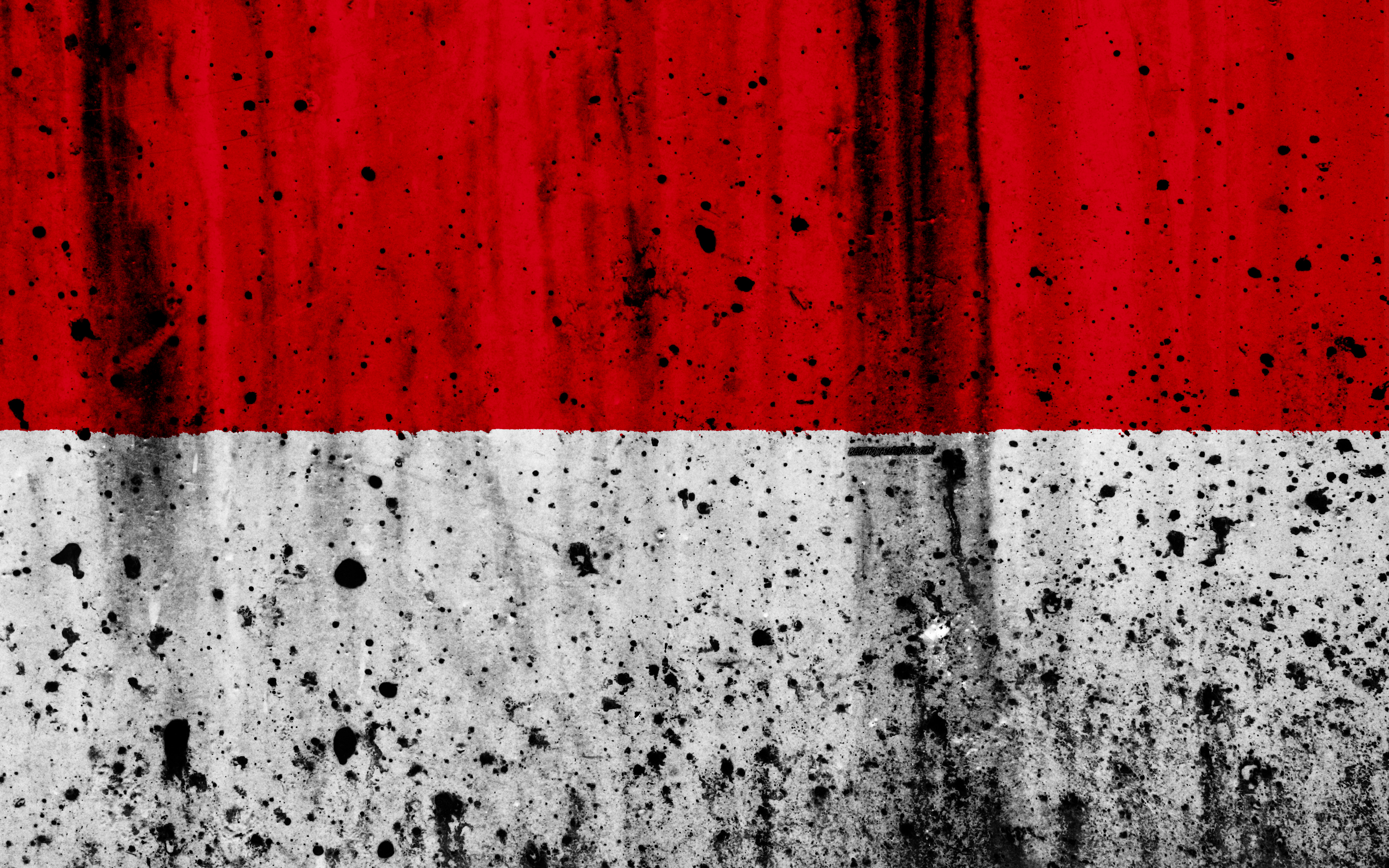 Download wallpapers Indonesian flag, 4k, grunge, flag of Indonesia ...