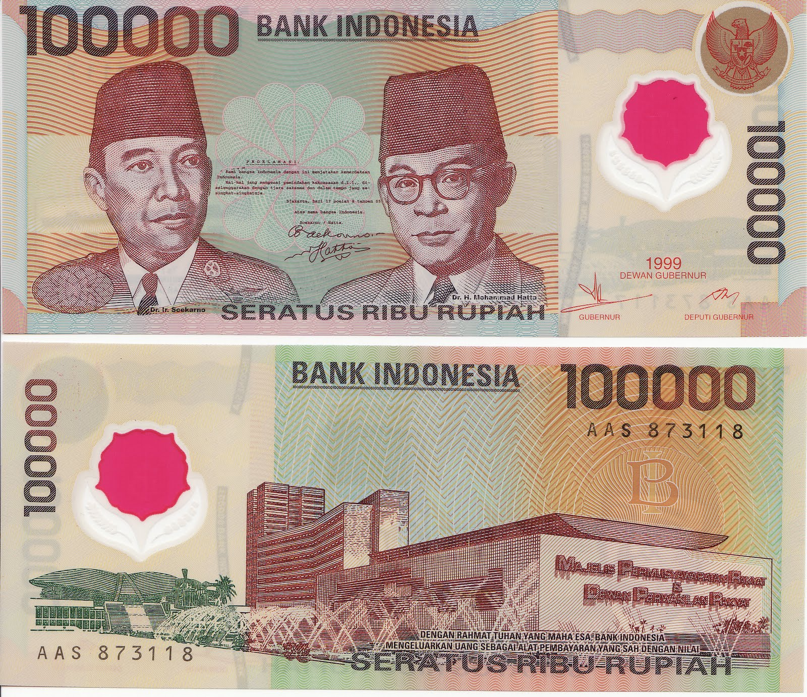 Randhawa's Bank Notes And Collectibles: Indonesia 100000 Polymer ...