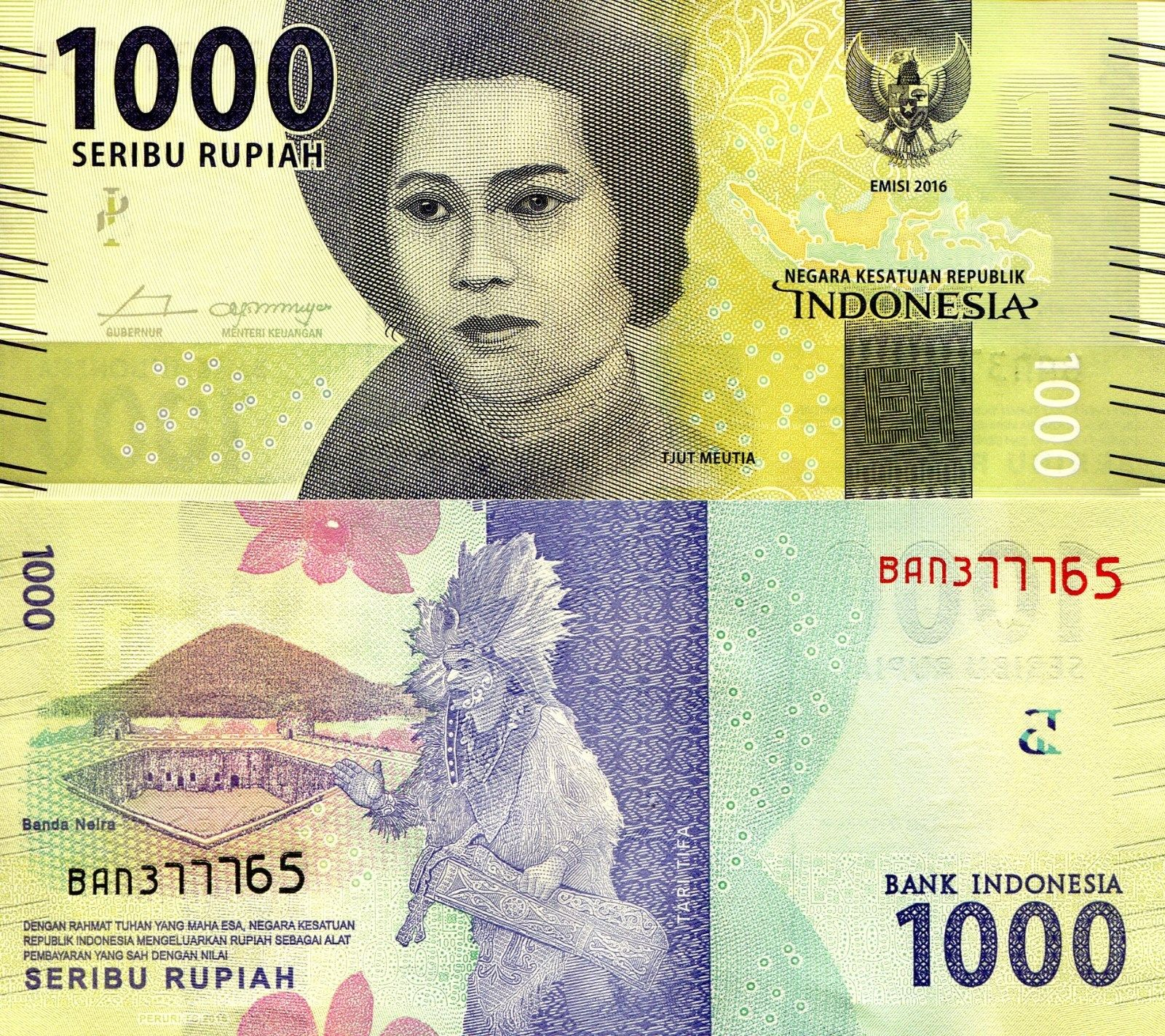 Indonesia 1000 Rupiah Banknote World Paper Money UNC Pick P-2016 | eBay