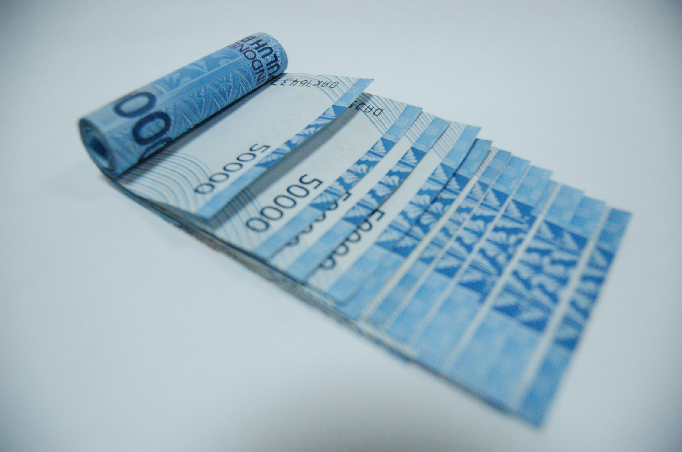 Indonesian Bank Note, Bank, Blue, Bspo06, Indonesia, HQ Photo