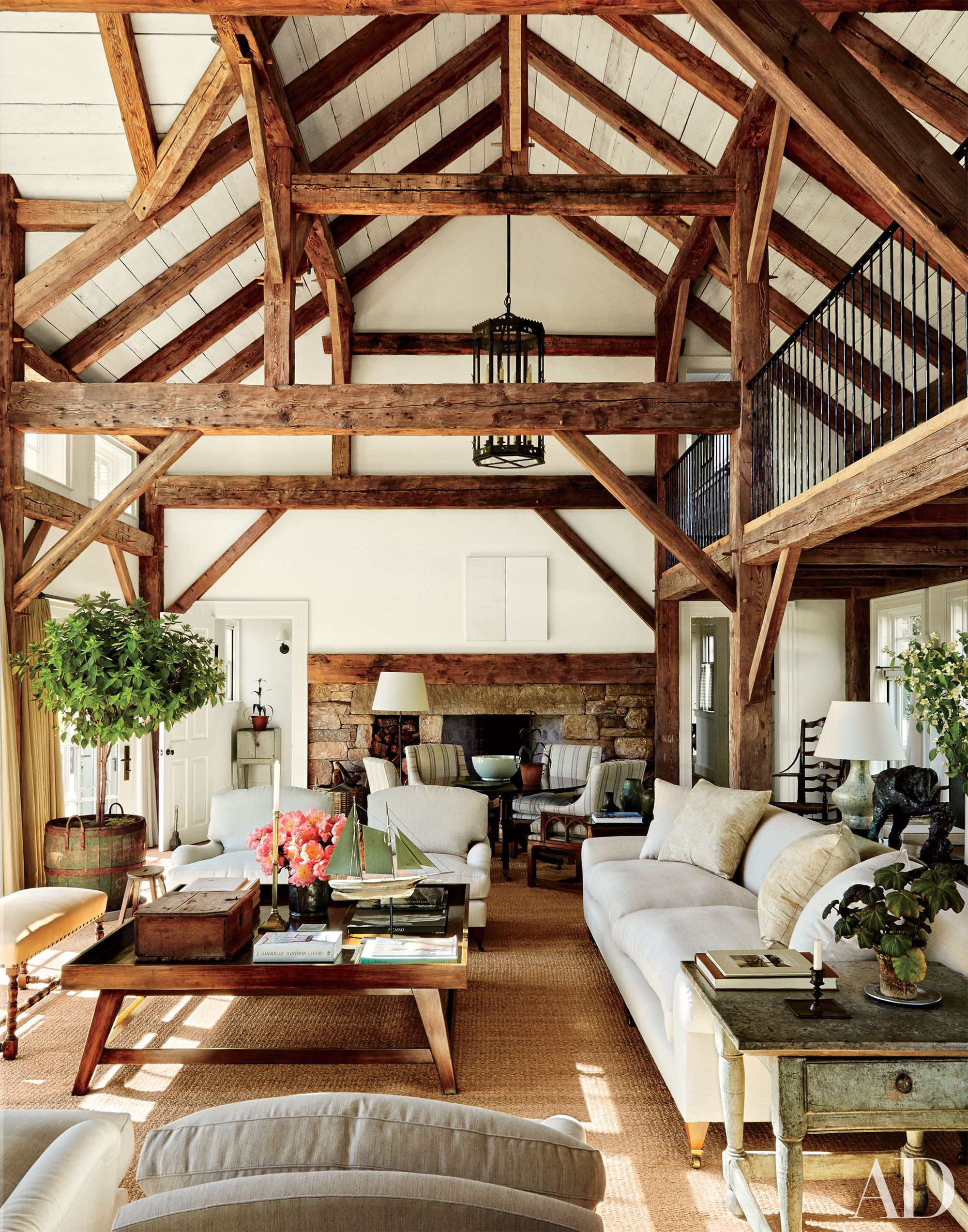 Structural Ceiling Beams That Add Dimension | Massachusetts, Beams ...