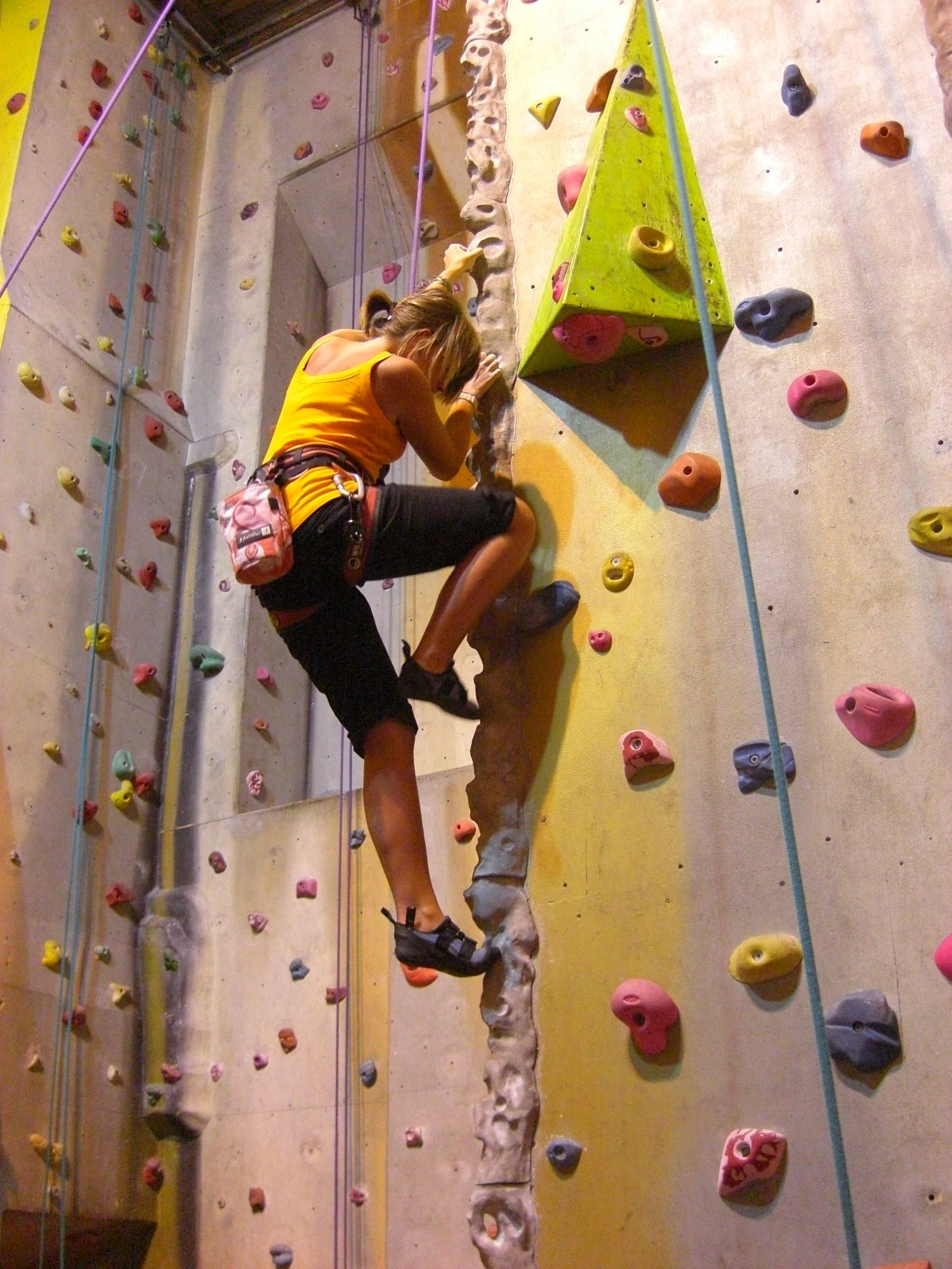 It's possible ... for me to rock climb (indoors of course). I ...