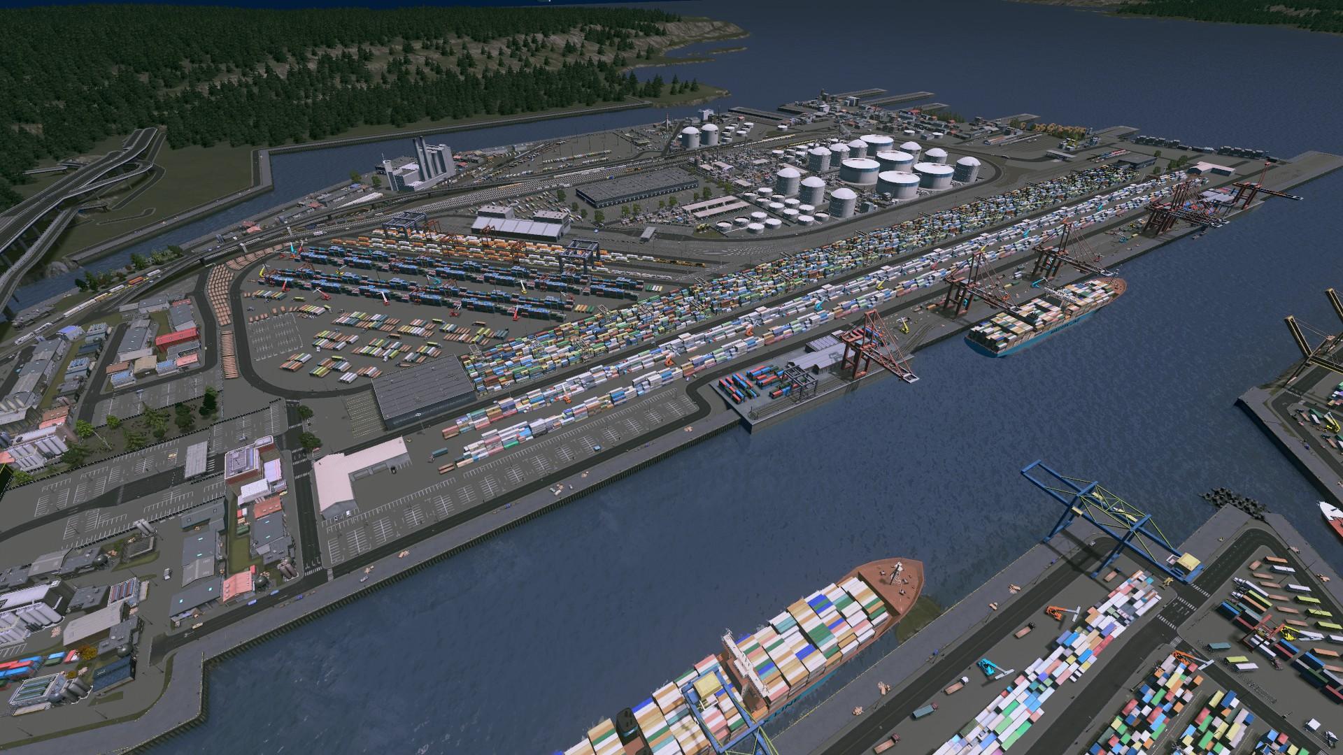 Harbor Island Industrial/Seaport Area - Seattle, WA : CitiesSkylines