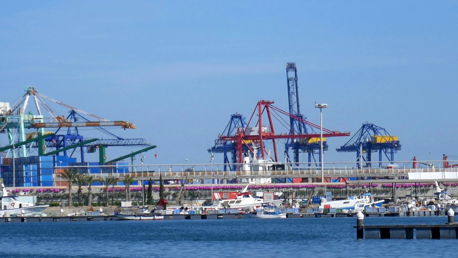 Industrial harbor of Valence Stock Video Footage - VideoBlocks