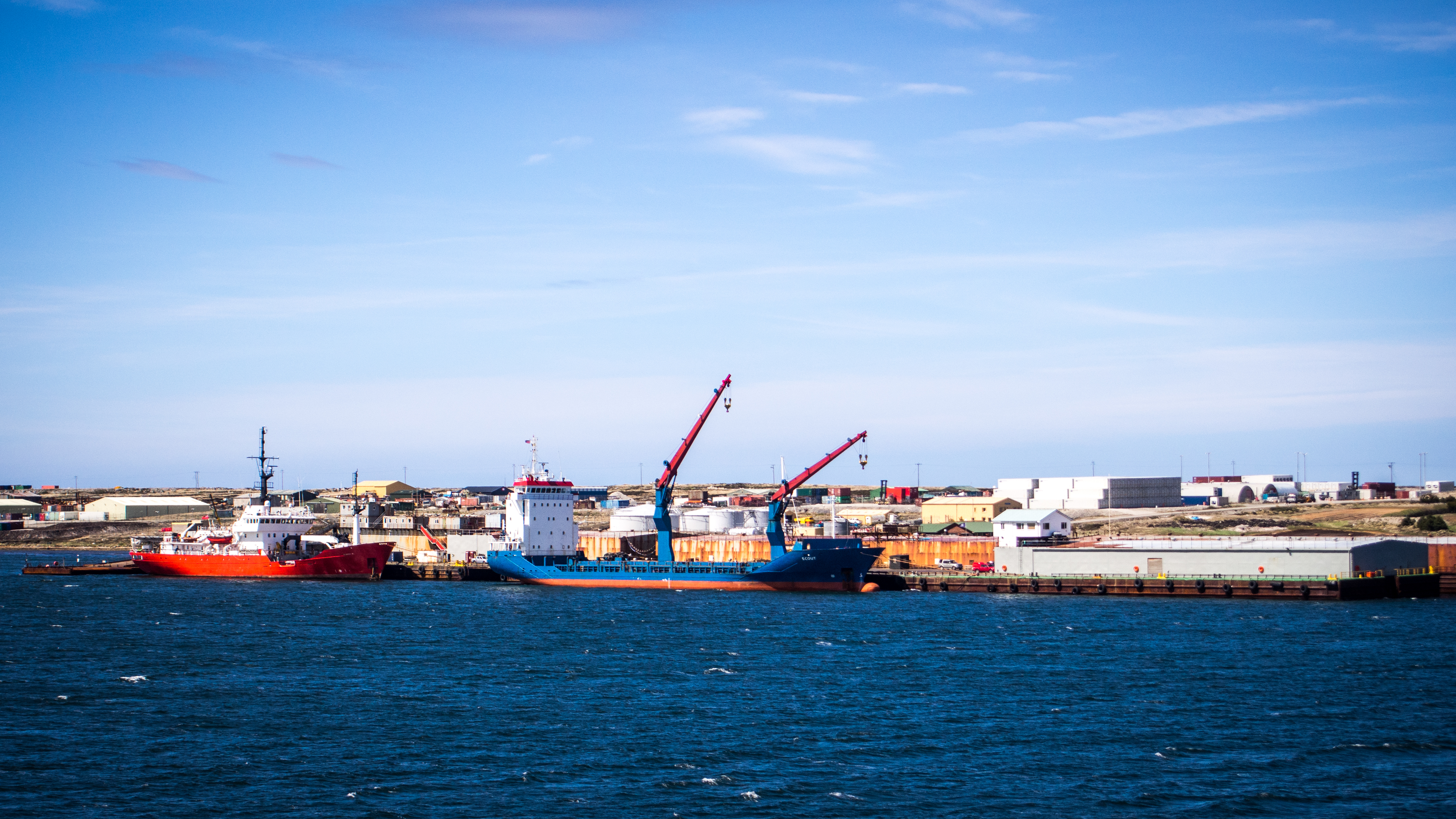 Industrial harbor, Boat, International, Large, Loading, HQ Photo