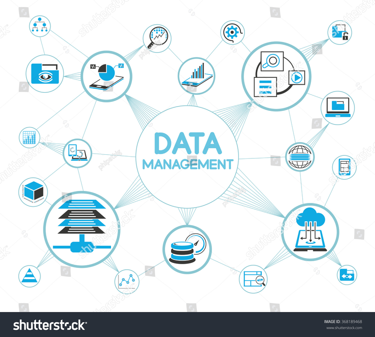 Data Management Concept Information Technology Concept Stock Vector ...