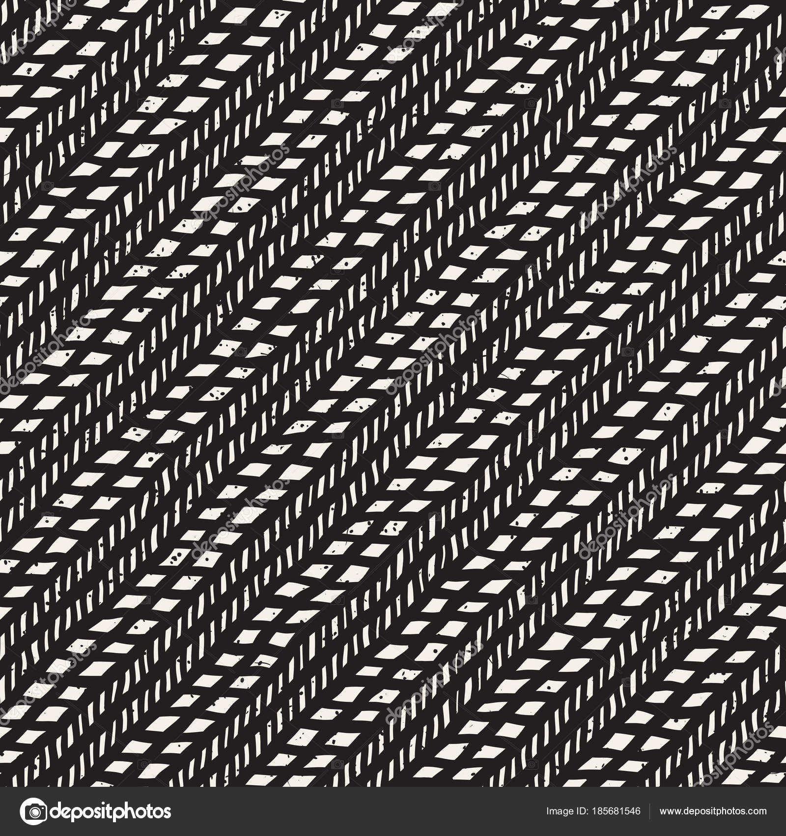 Simple ink geometric pattern. Monochrome black and white strokes ...