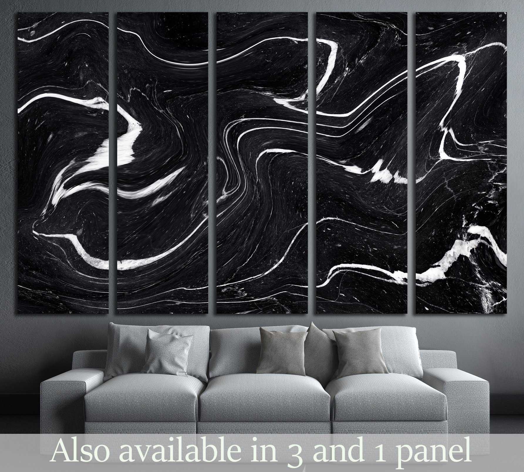 Black Marble ink texture acrylic painted waves texture background ...