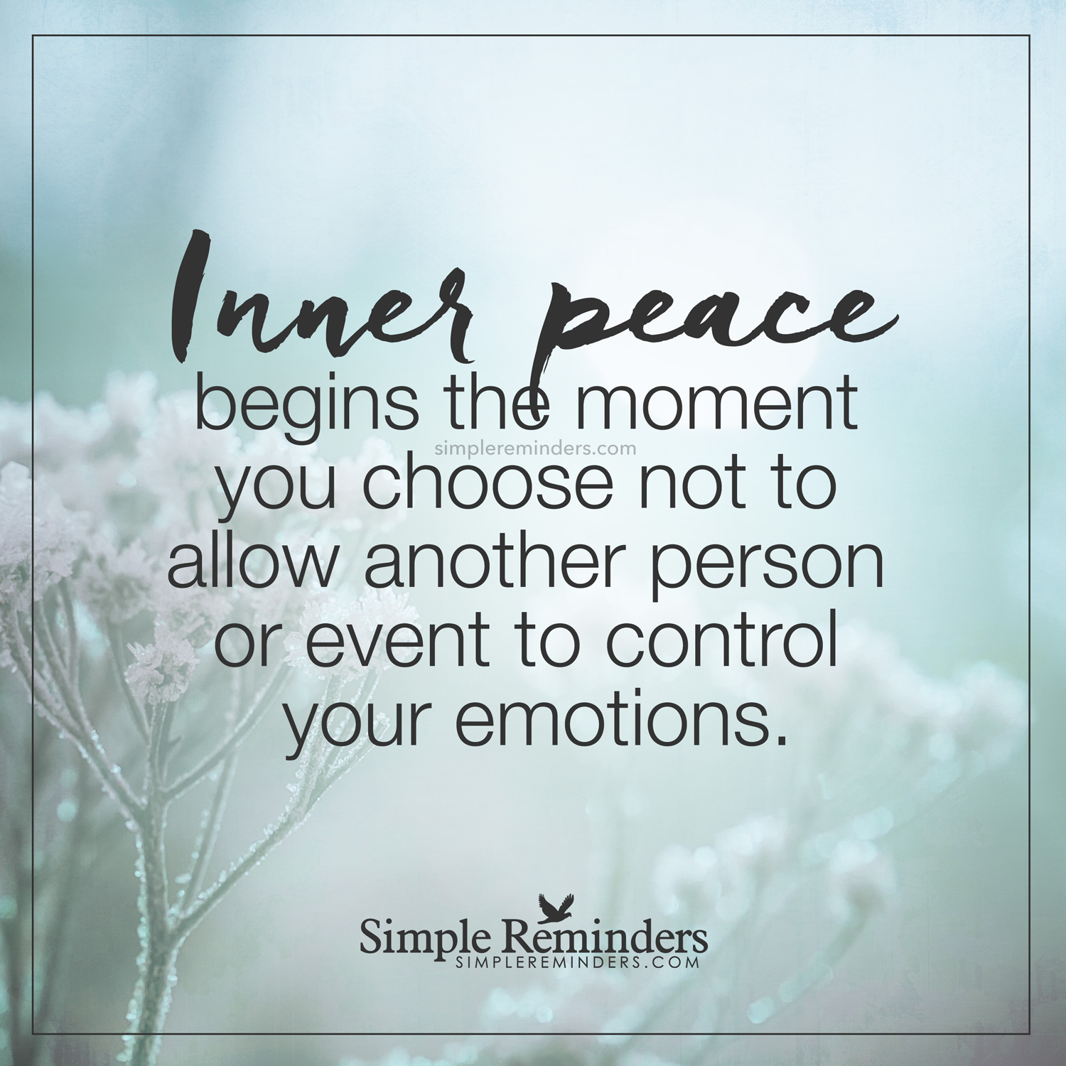 unknown author inner peace begins emotions 9o8m - Simple Reminders ...