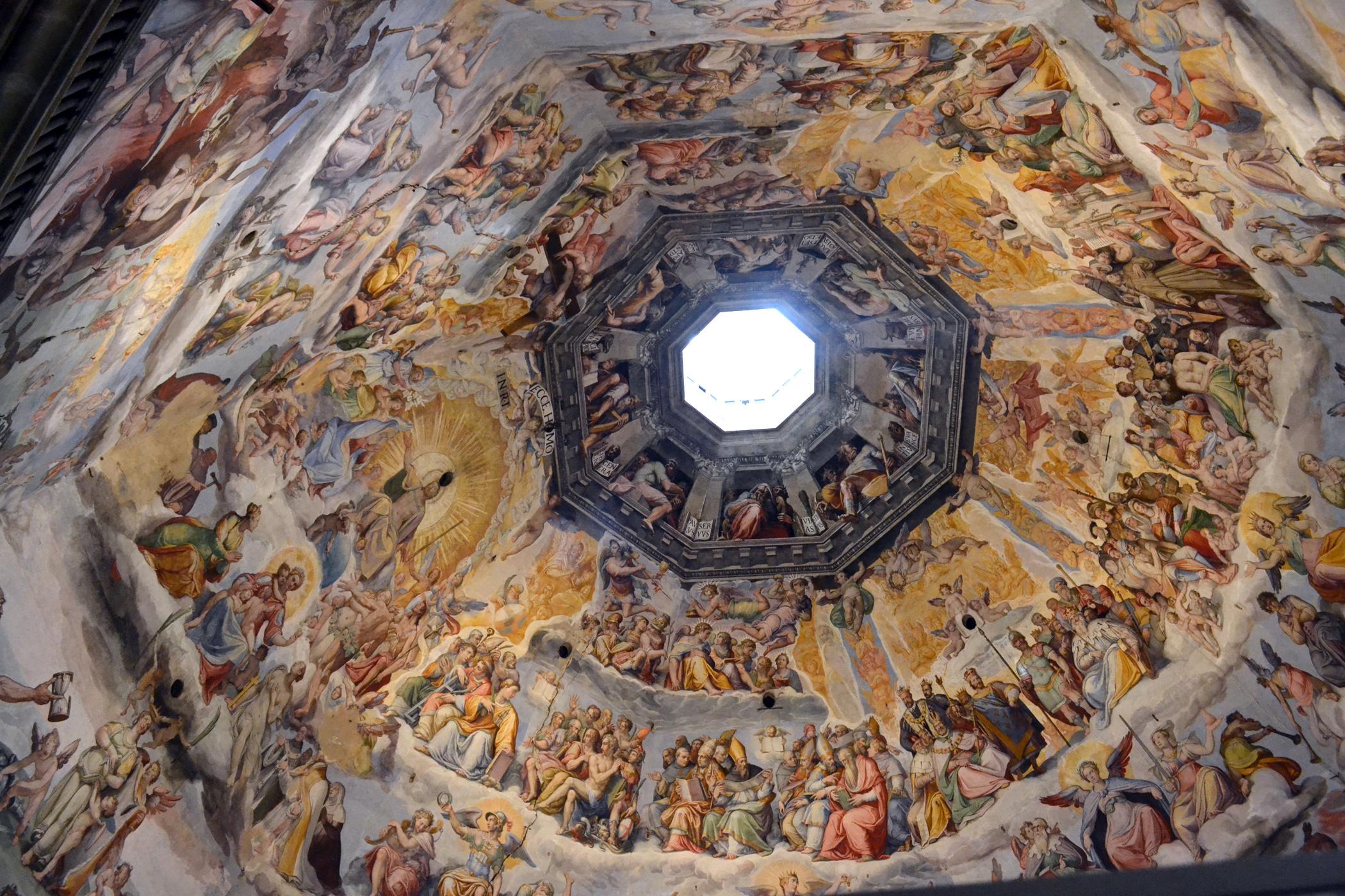 Inside of baptistri church dome photo