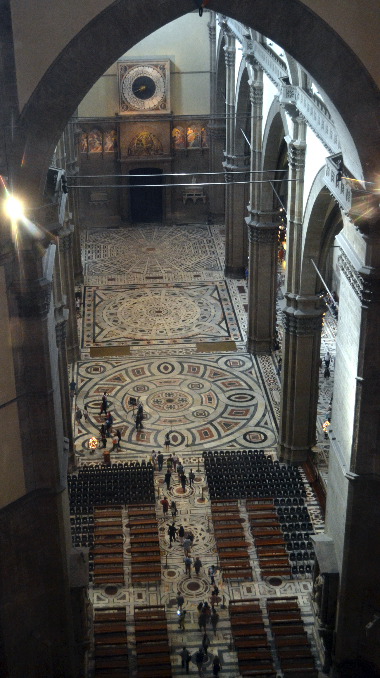 Inside of the baptistery from top photo