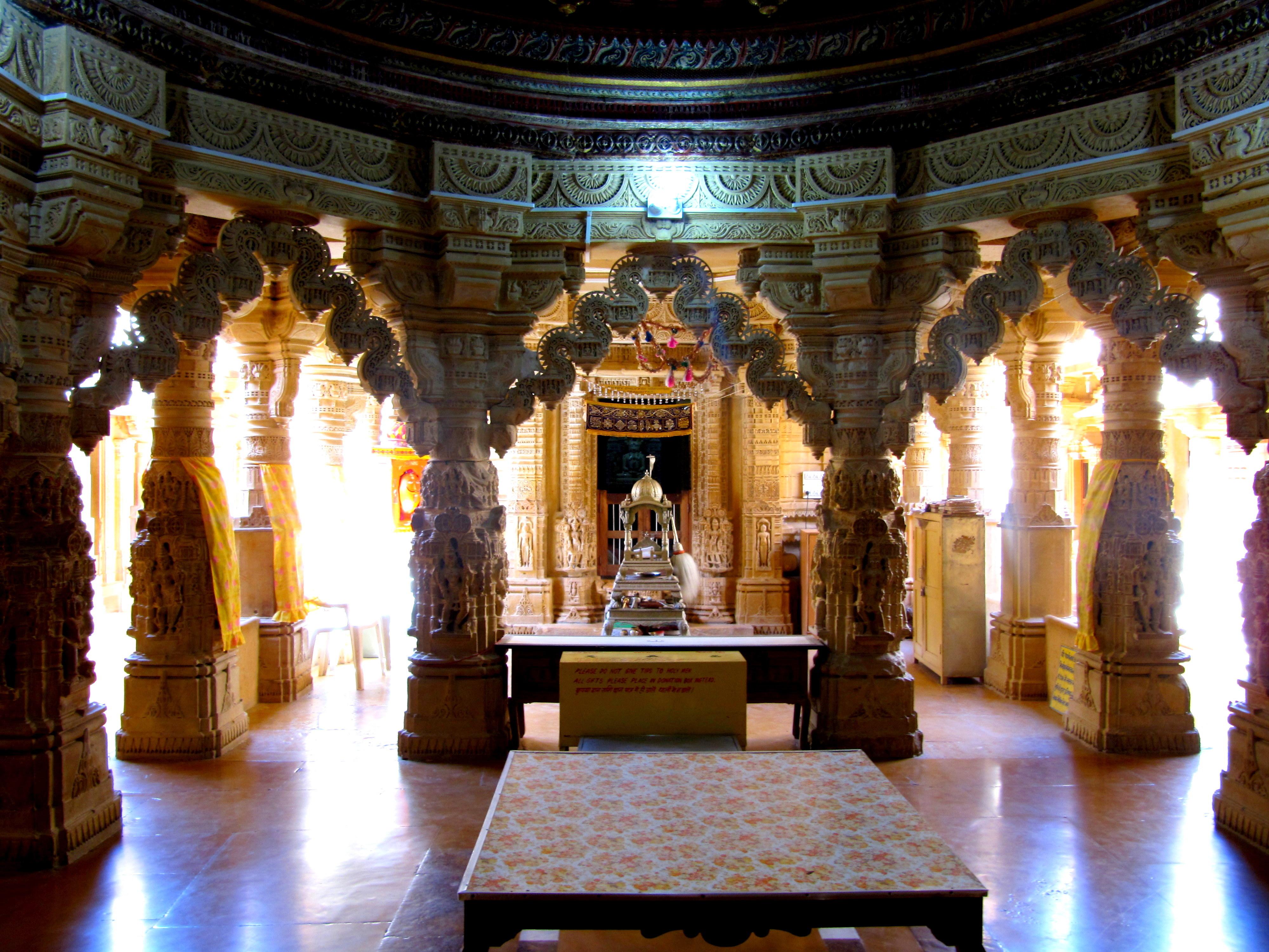 Inside a Jain temple, Jaisalmer   Free Bird