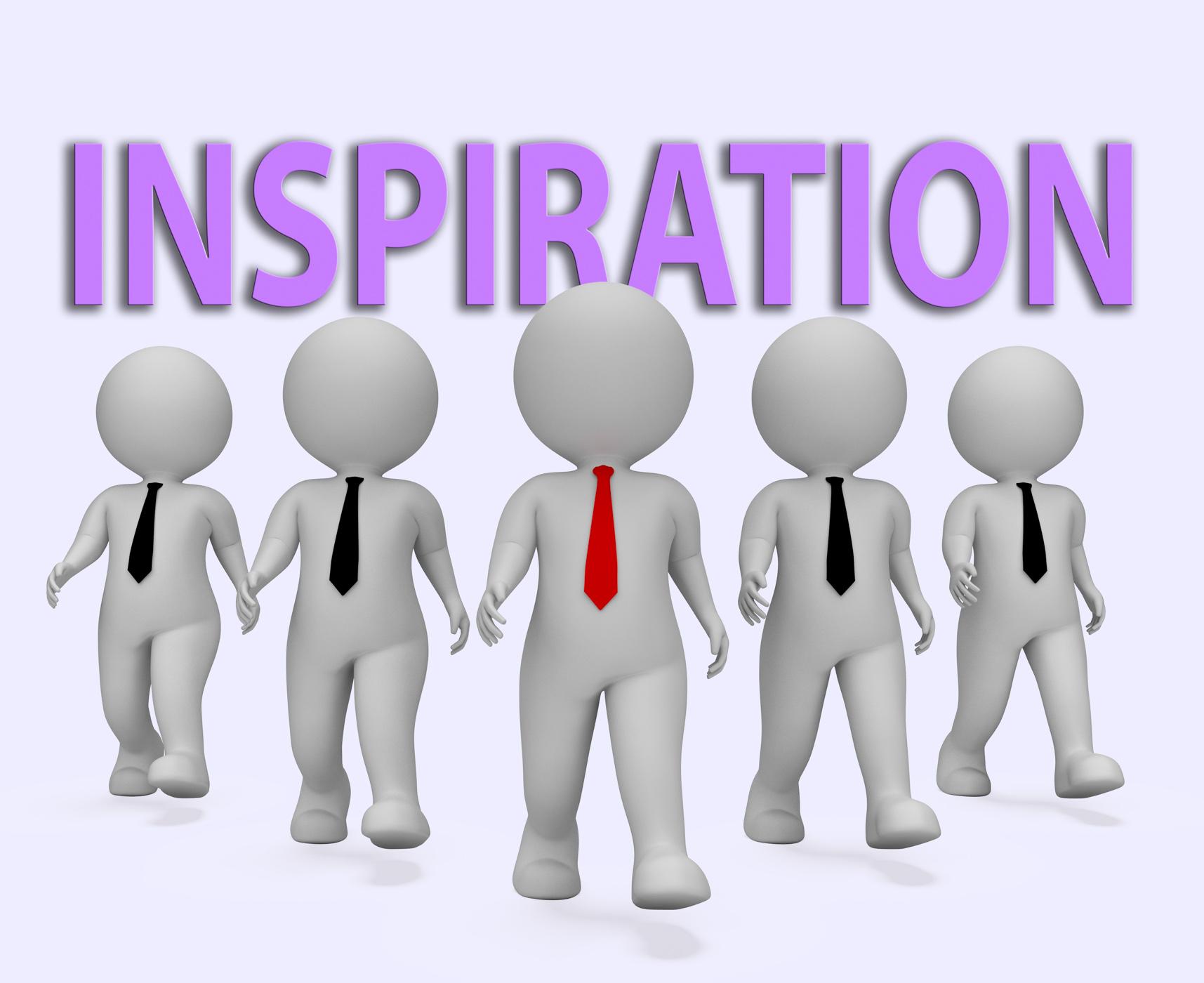 Inspiration businessmen indicates positive motivate 3d rendering photo