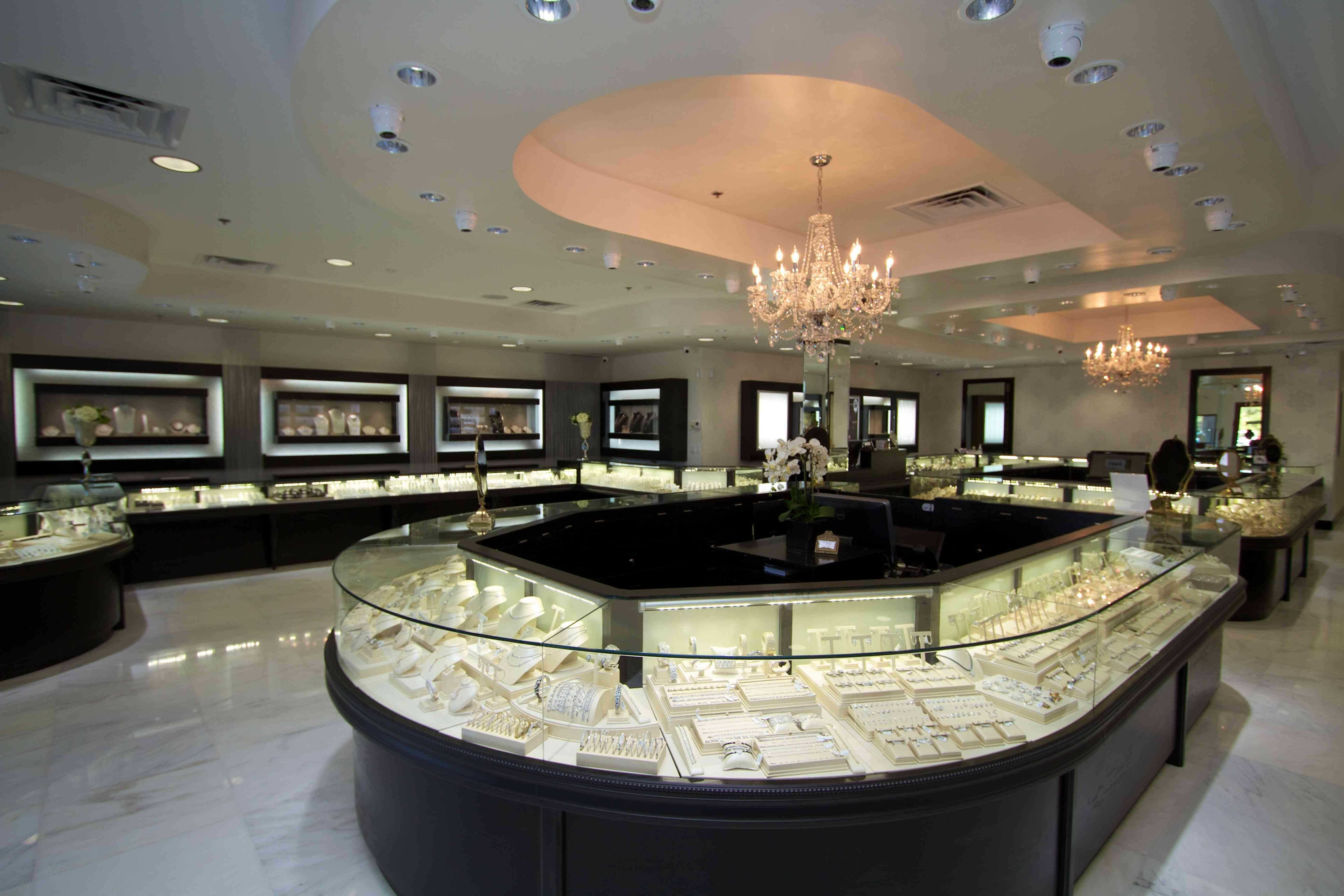 Free photo interior jewelry store shopping shop store free