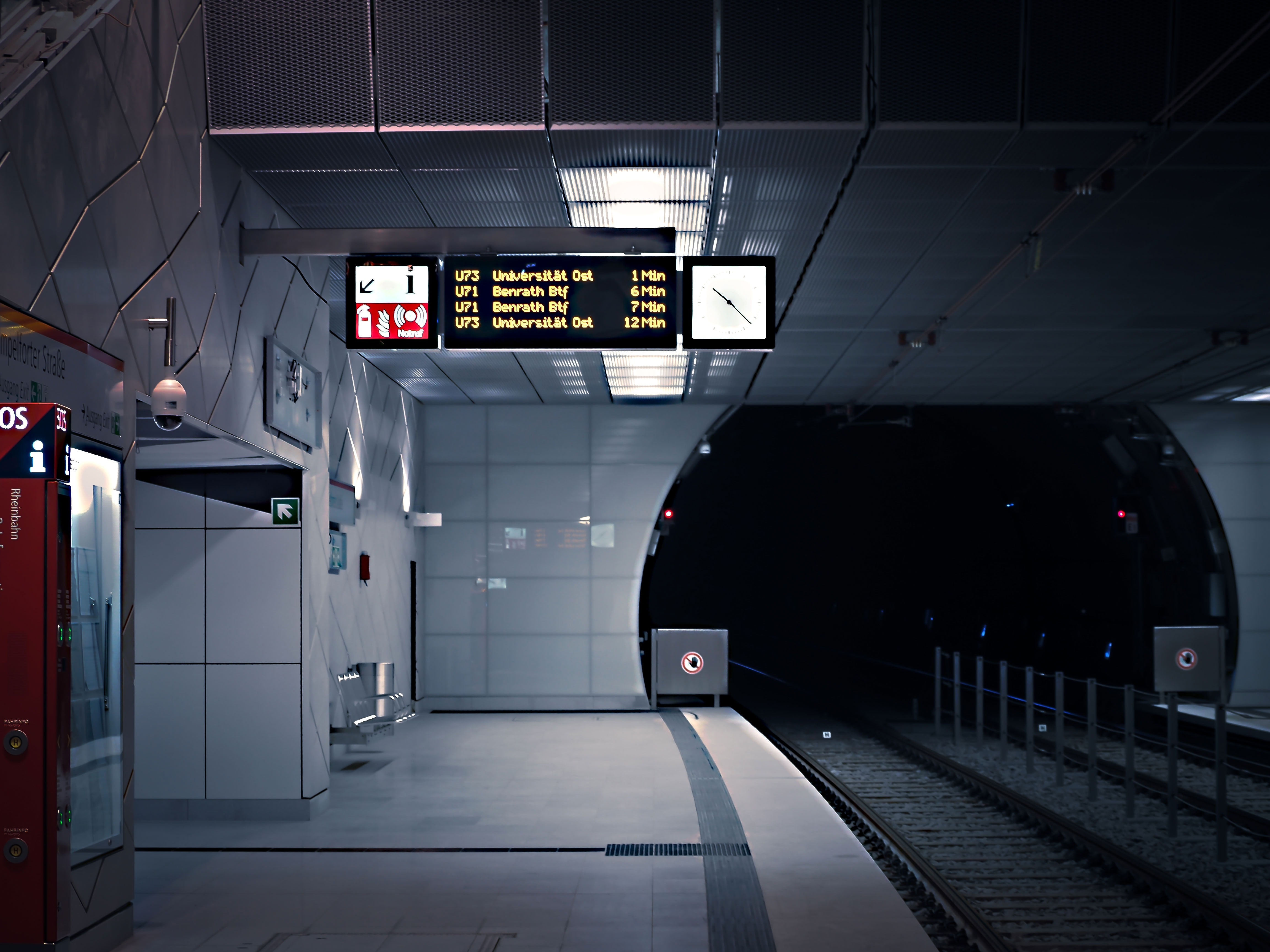 Interior of Airport, Station, Vehicle, Urban, Tunnel, HQ Photo