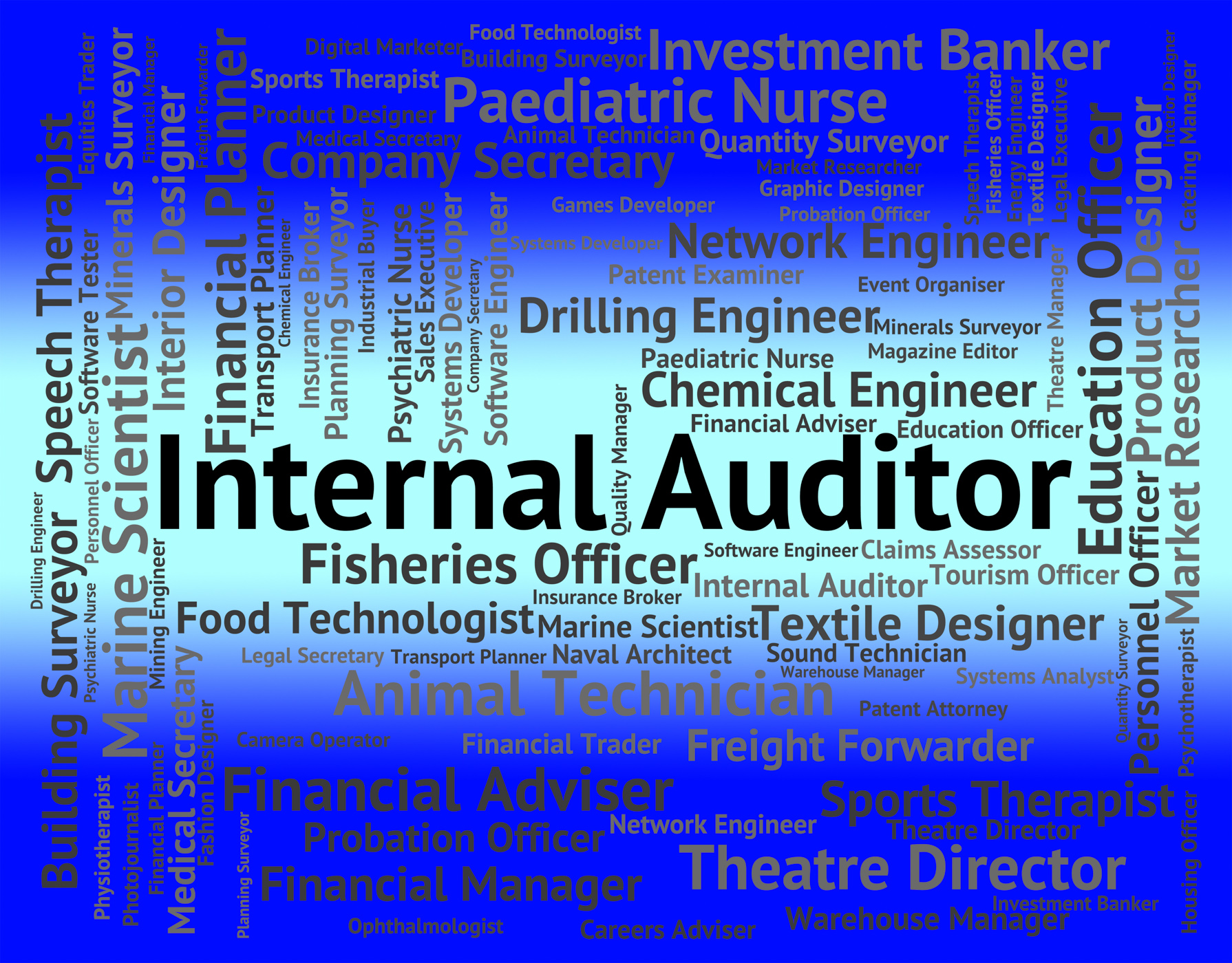 Internal auditor shows occupations hiring and job photo