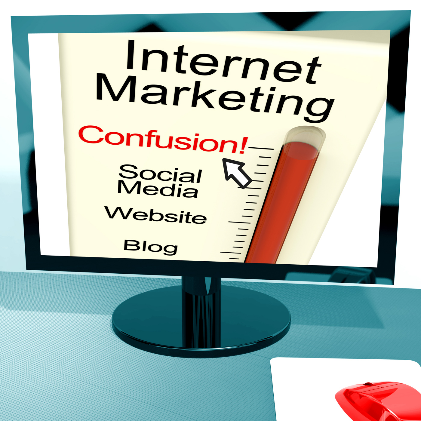 Internet marketing confusion shows online seo strategy photo