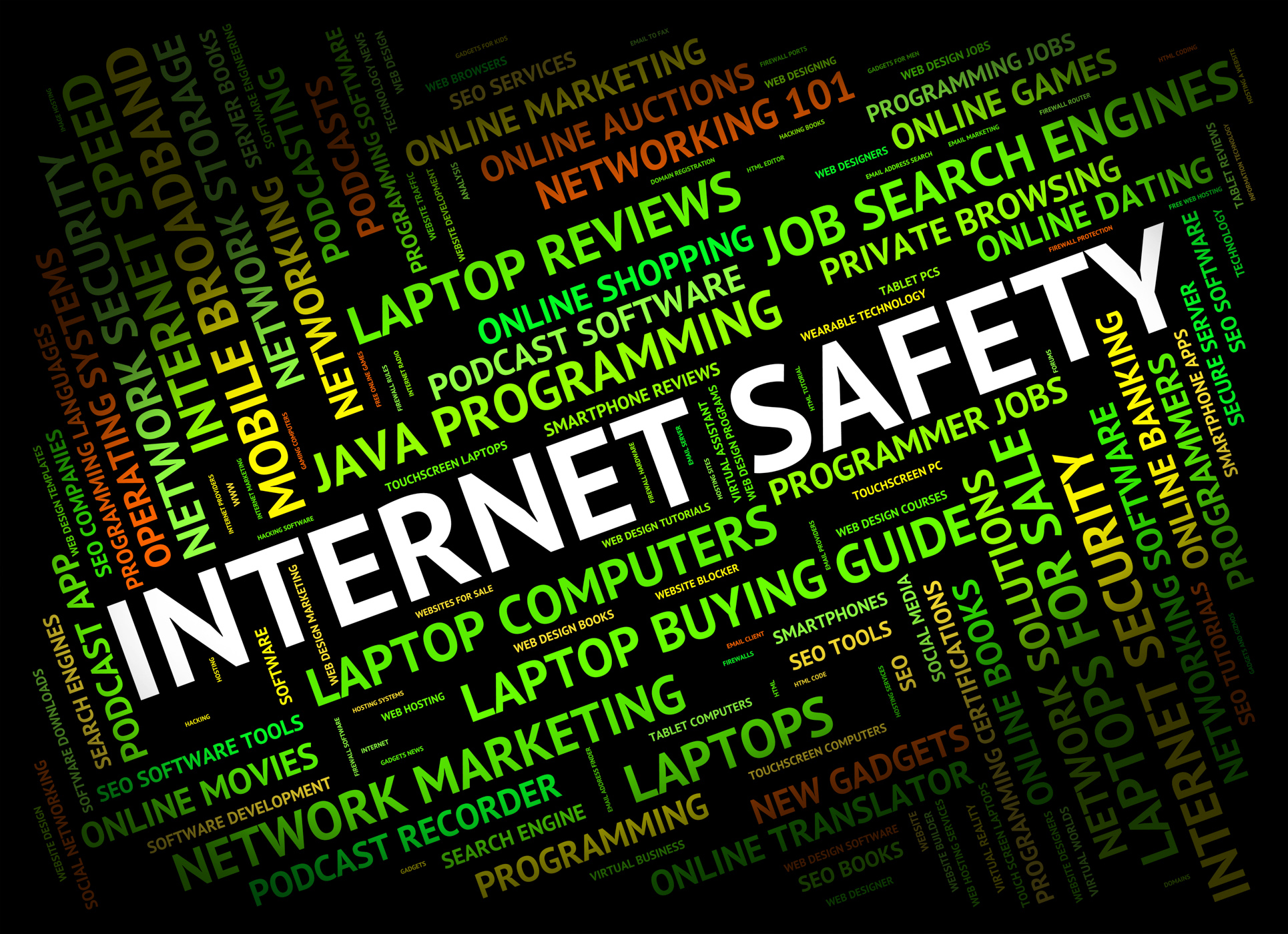 Internet safety represents world wide web and beware photo