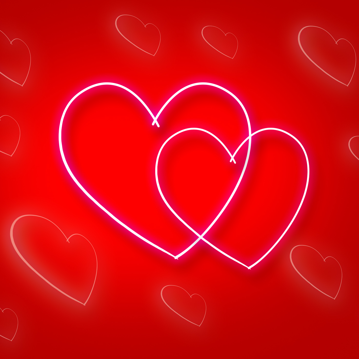 Intertwinted hearts shows valentines day and background photo