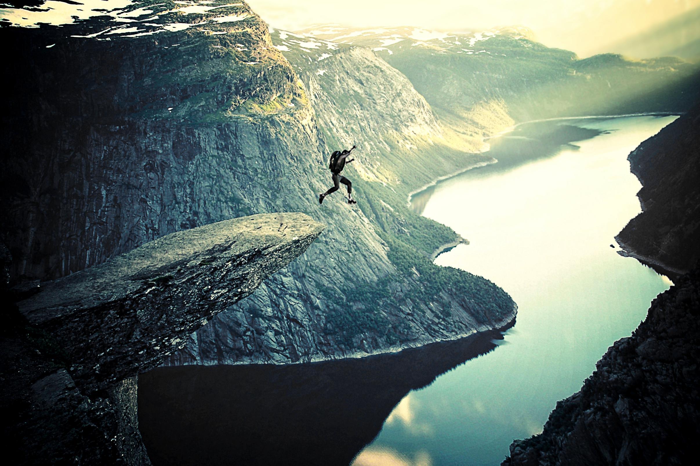 Into thin air - base jumping photo