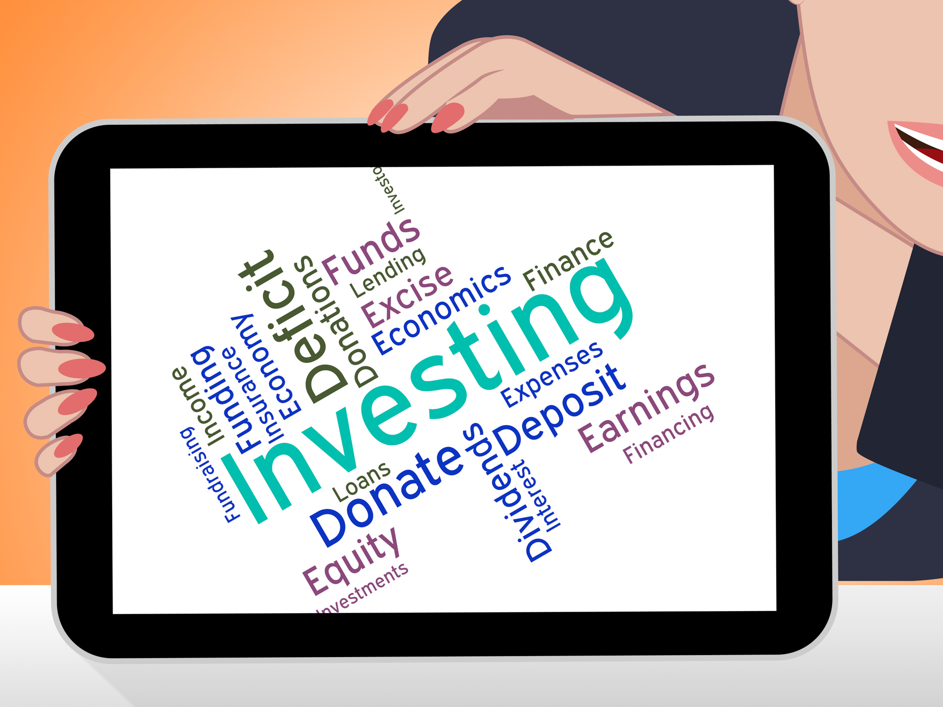 Investing Word Indicates Return On Investment And Growth, Savings, Roi, Return, Shares, HQ Photo