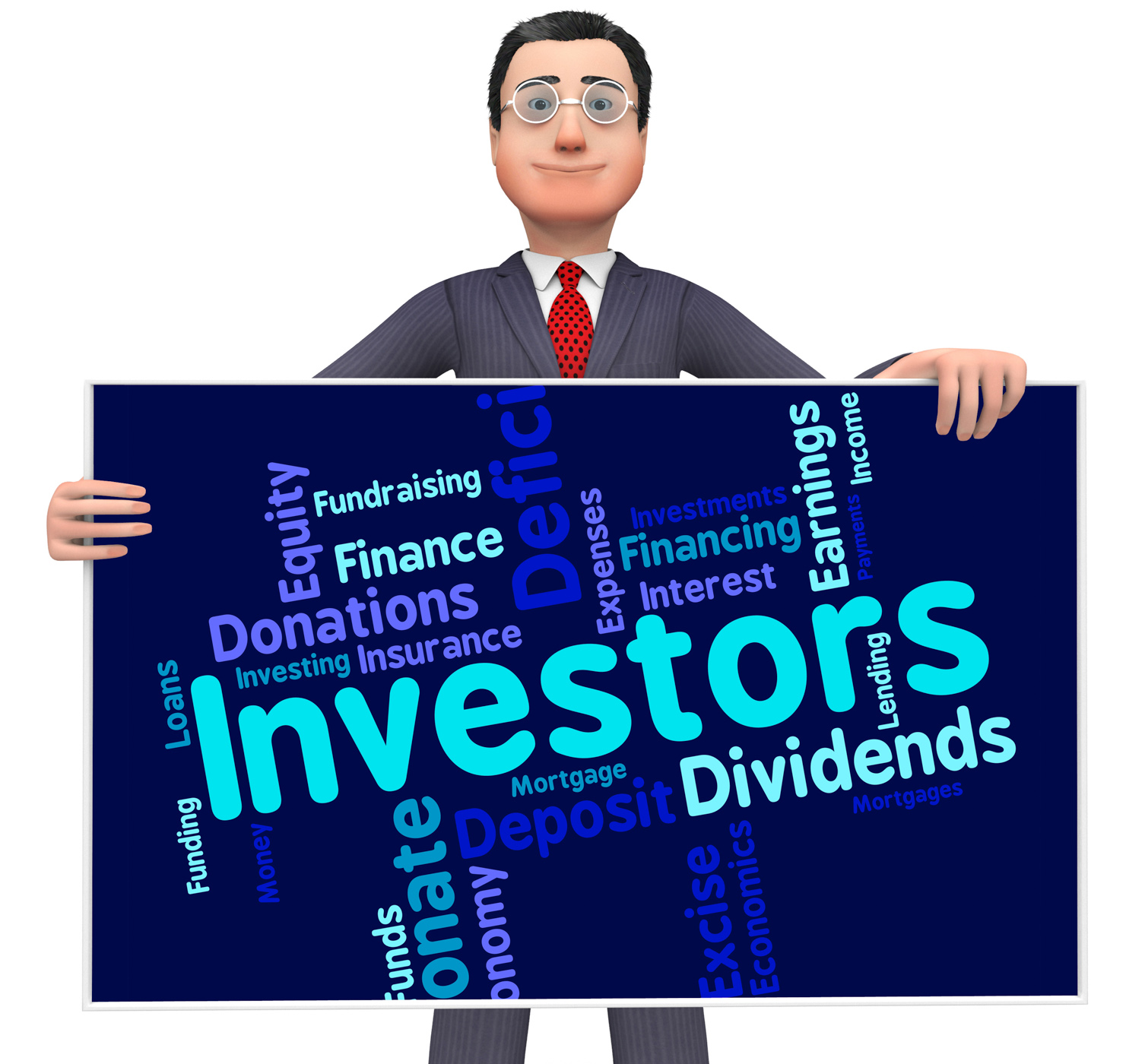 Investors word means return on investment and growth photo
