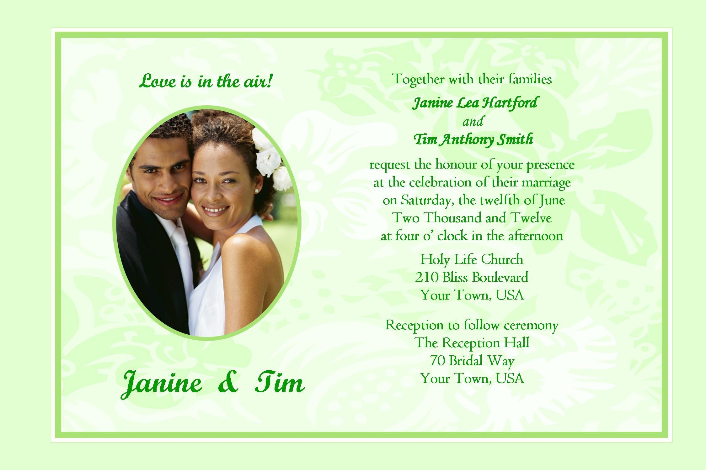 Invitation Cards Samples Wedding New Wedding Invitation Card Samples ...