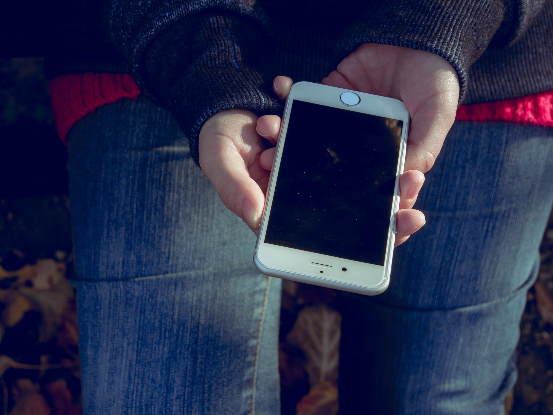 Iphone in the hands photo