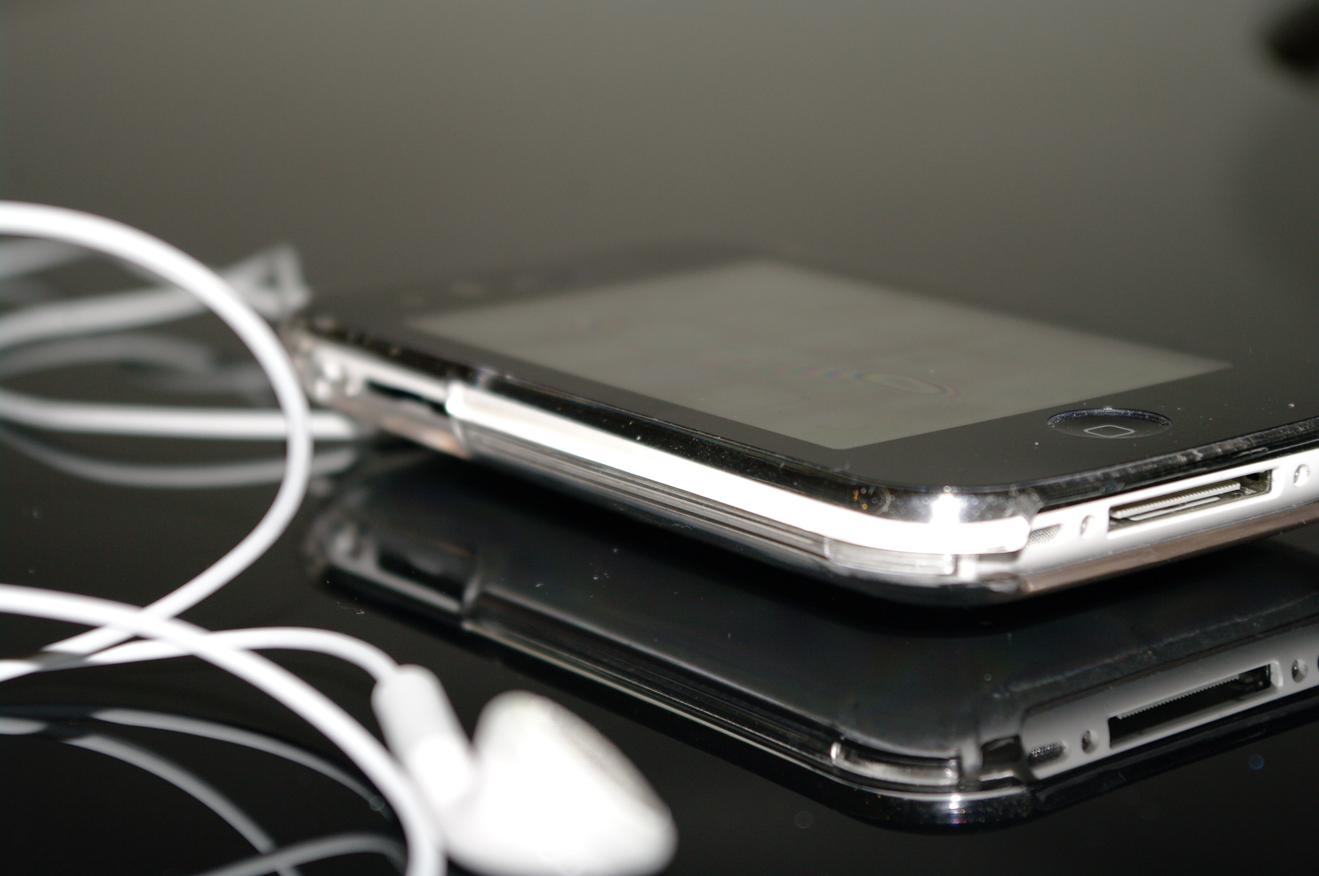 Free Photo Iphone With Headset Apple Communication Entertainment Free Download Jooinn