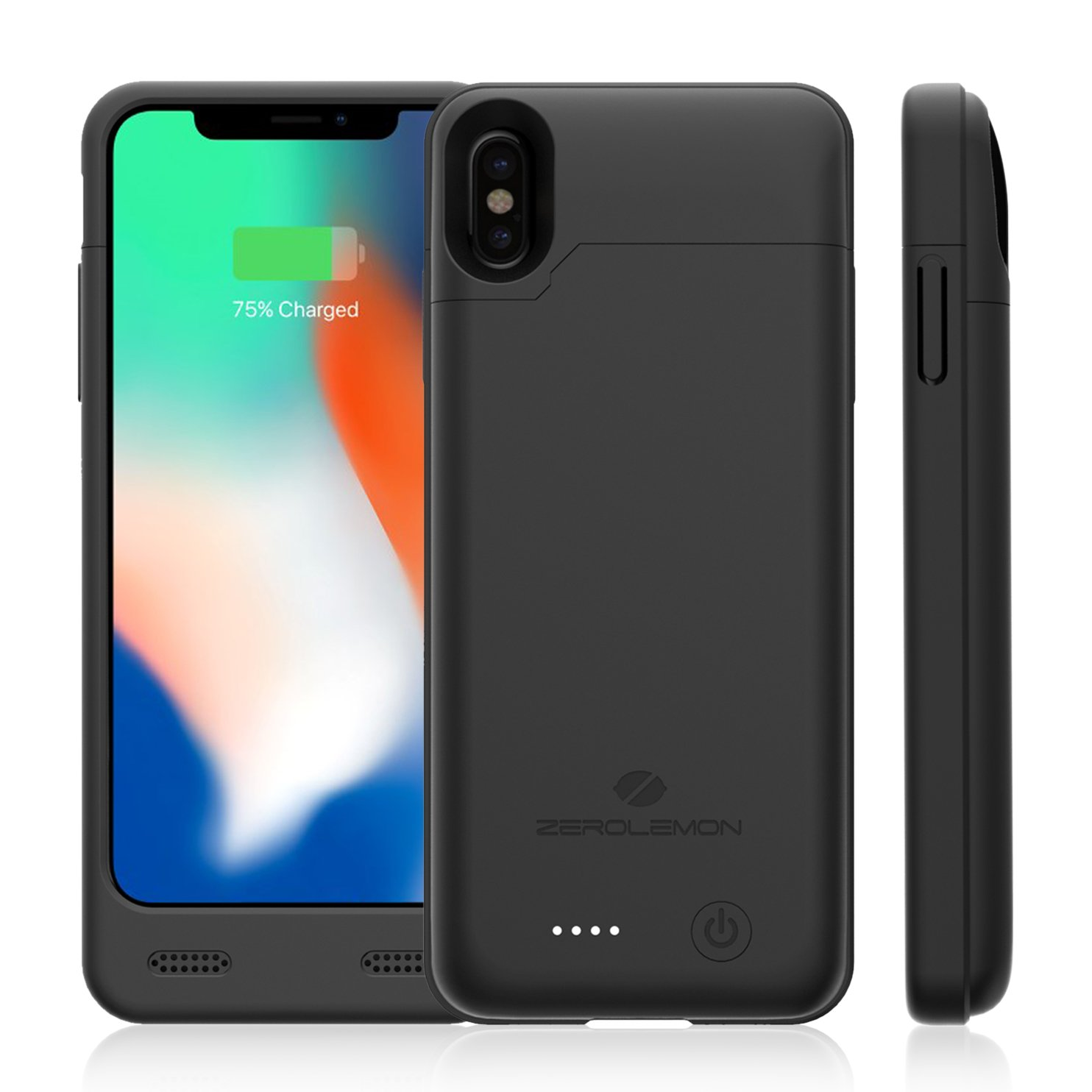iPhone X 4000mAh Battery Case with Qi Wireless Charging Supported [Shi