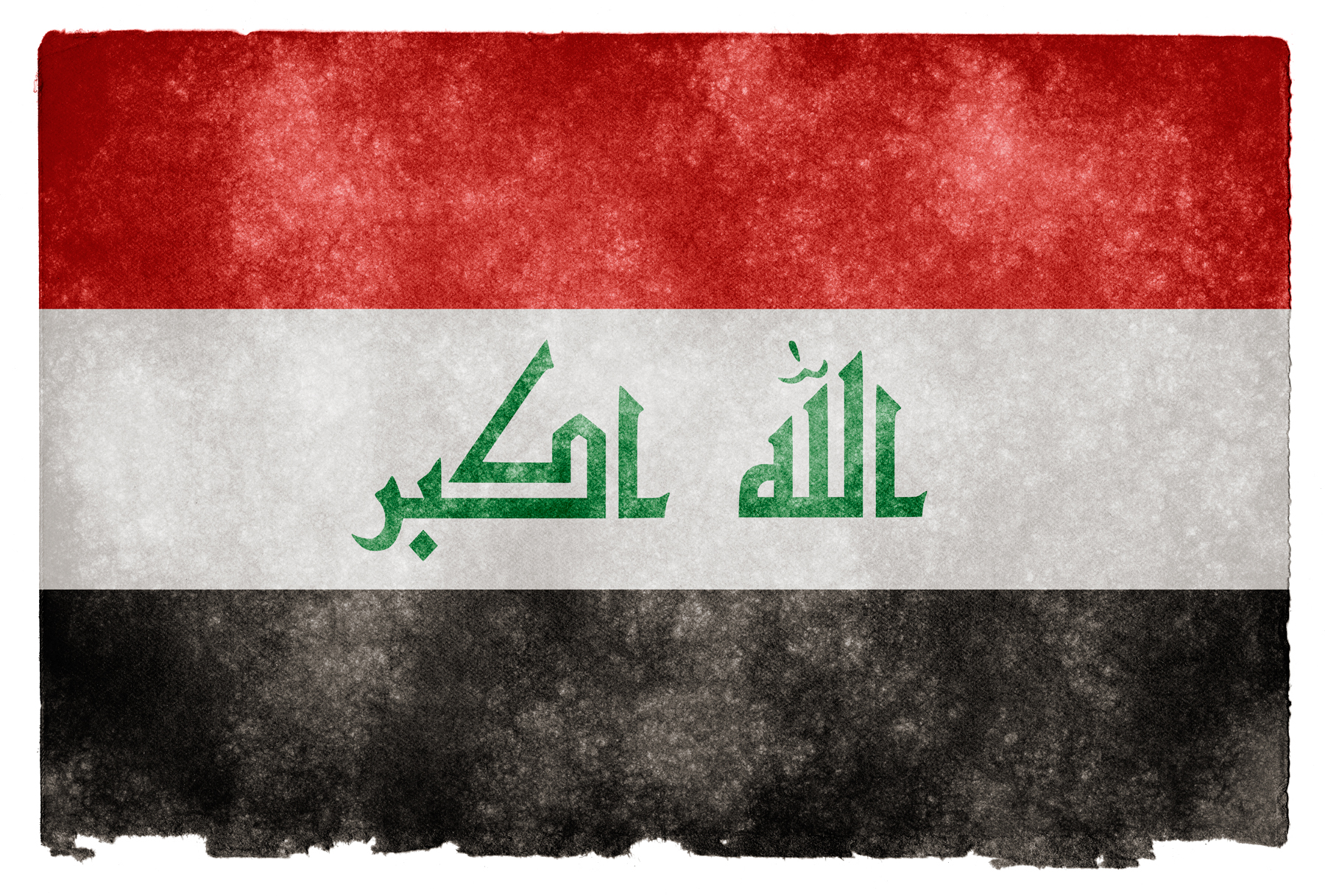 Iraq Grunge Flag, Aged, Red, Middle-east, Middle-eastern, HQ Photo
