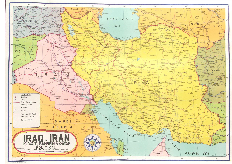 Free Photo Iraq Iran Map Maps Map The Free Download Jooinn