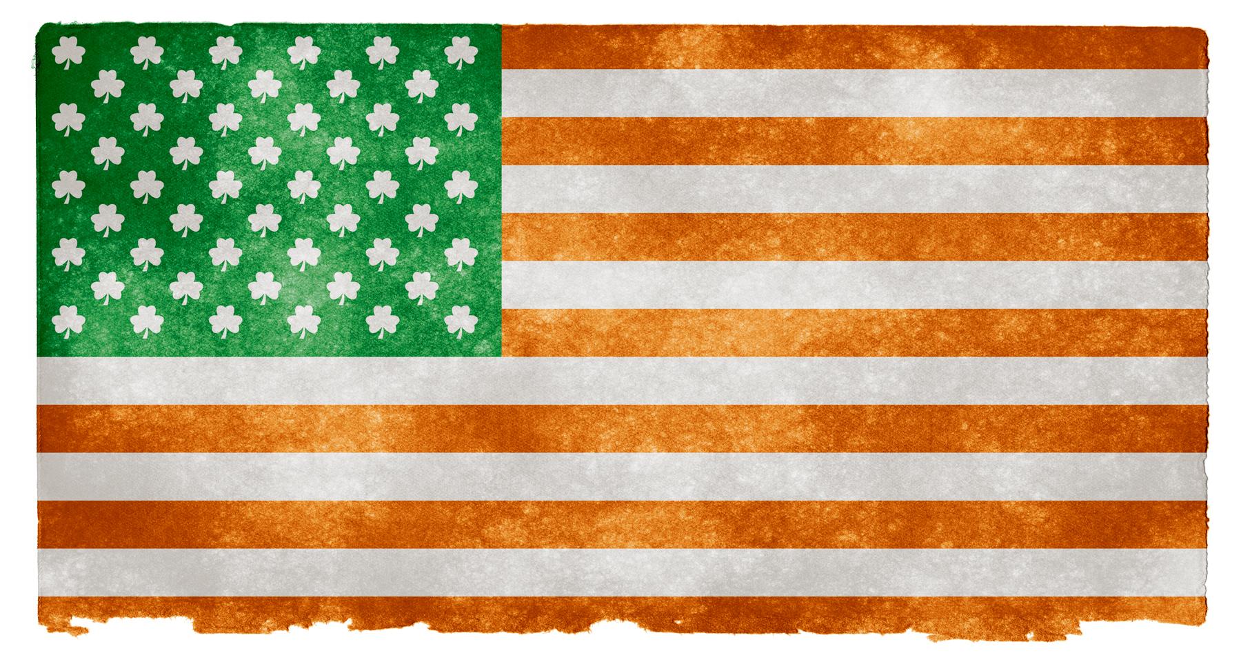 Irish american grunge flag photo